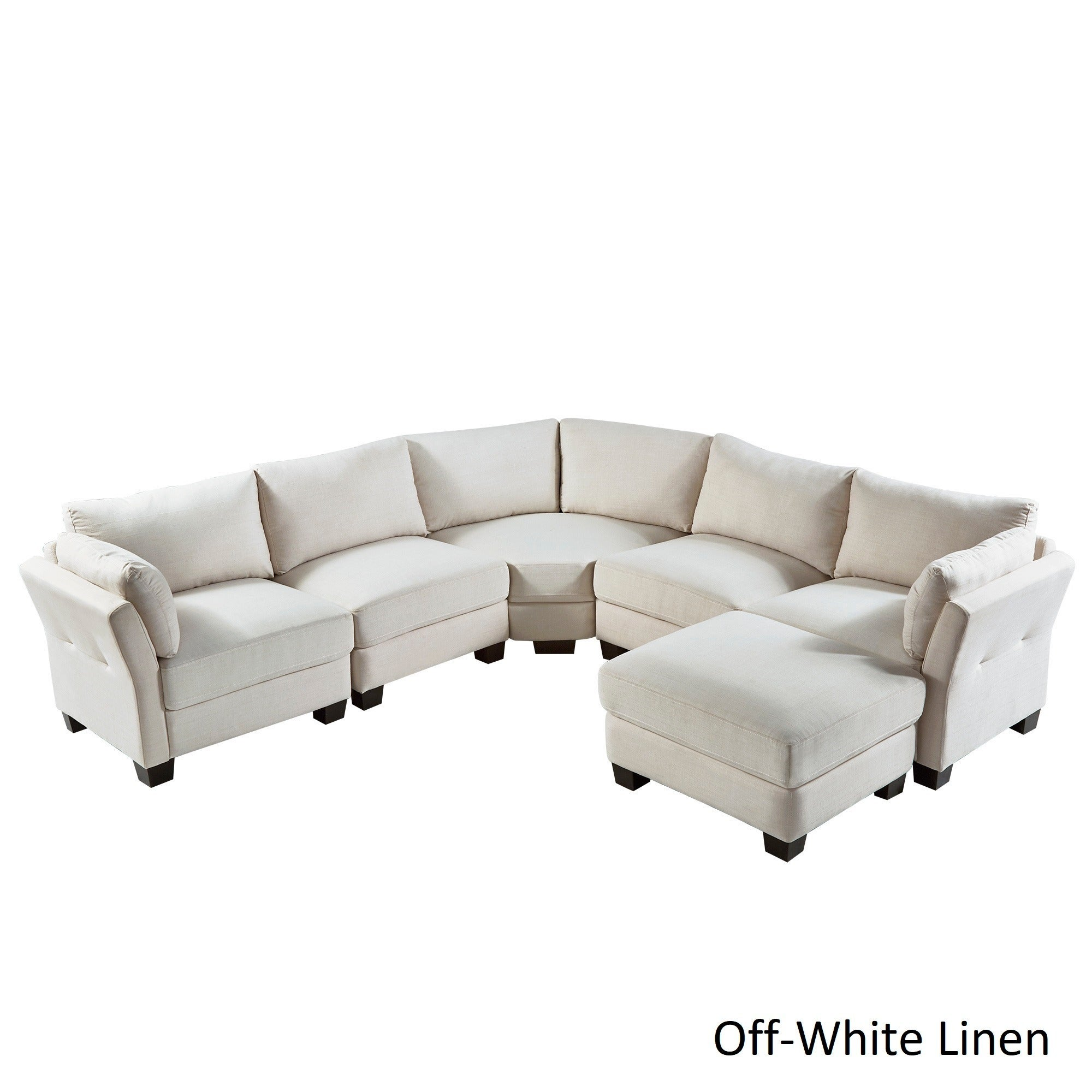 Elize U-Shaped 6-Seat Linen Fabric Modular Sectional Seating by iNSPIRE Q  Bold - Free Shipping Today - Overstock.com - 20522673