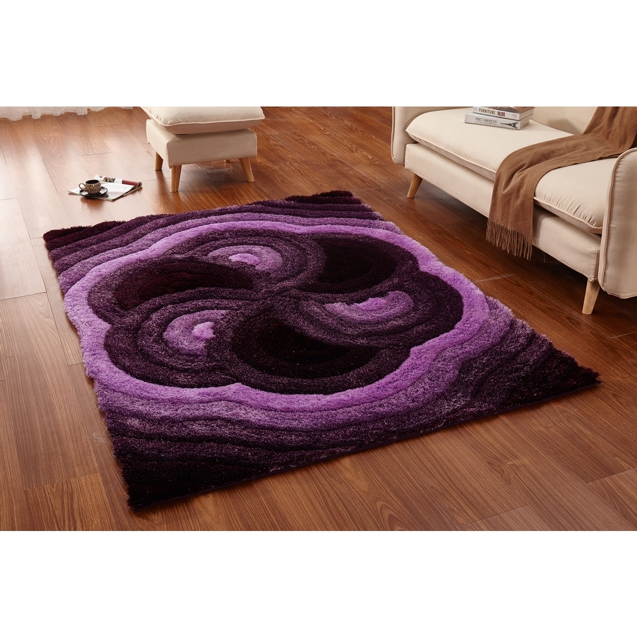 Casa Regina Soft Gy Collection Fl Spiral Design Area Rug 5 X 6 Free Shipping Today 20529114