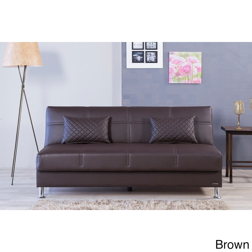 Eco Rest Contemporary Faux Leather Sleeper Sofa