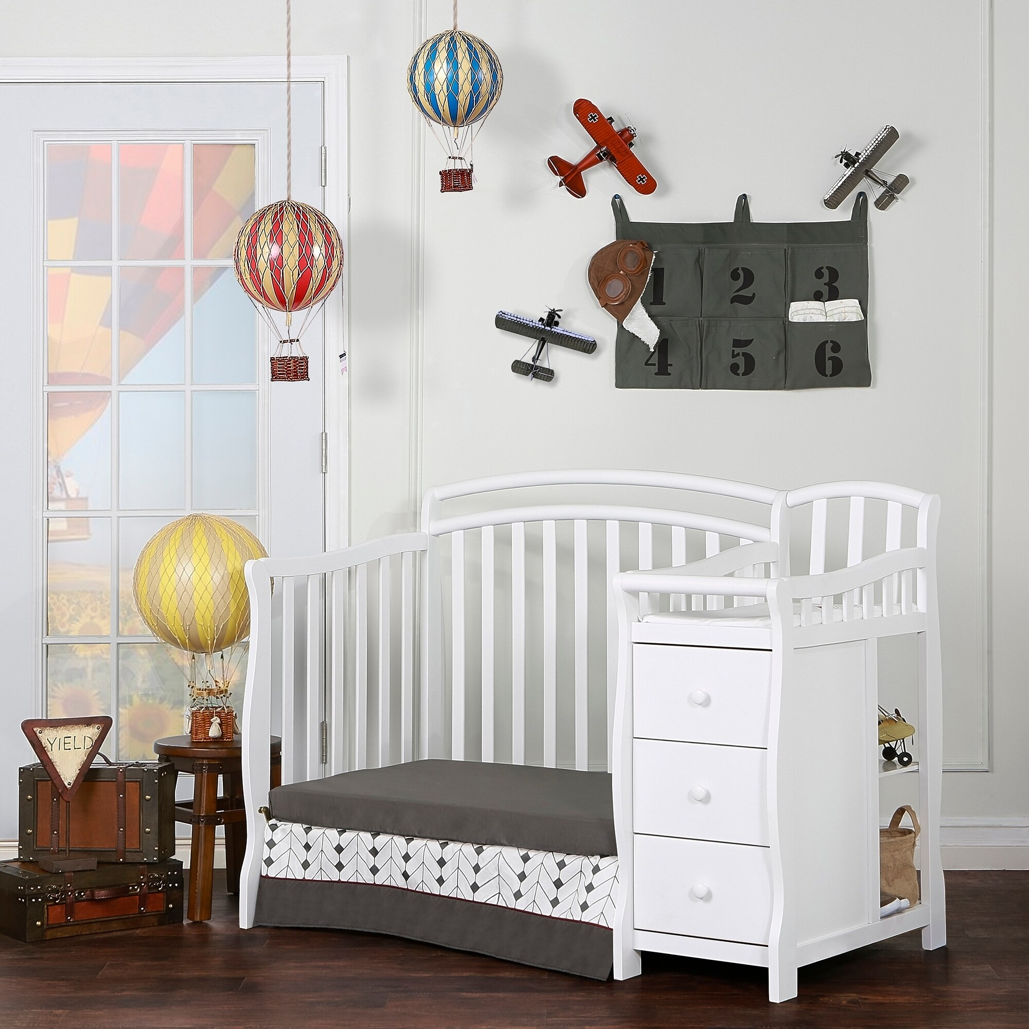 stork crib cribs portofino convertible side craft espresso changing fixed in table with changer