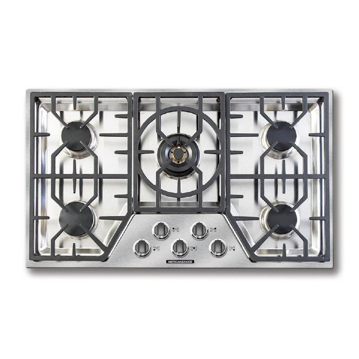 American Range 36 Inch Vitesse 5 Burner Gas Cooktop   Free Shipping Today    Overstock.com   20547891