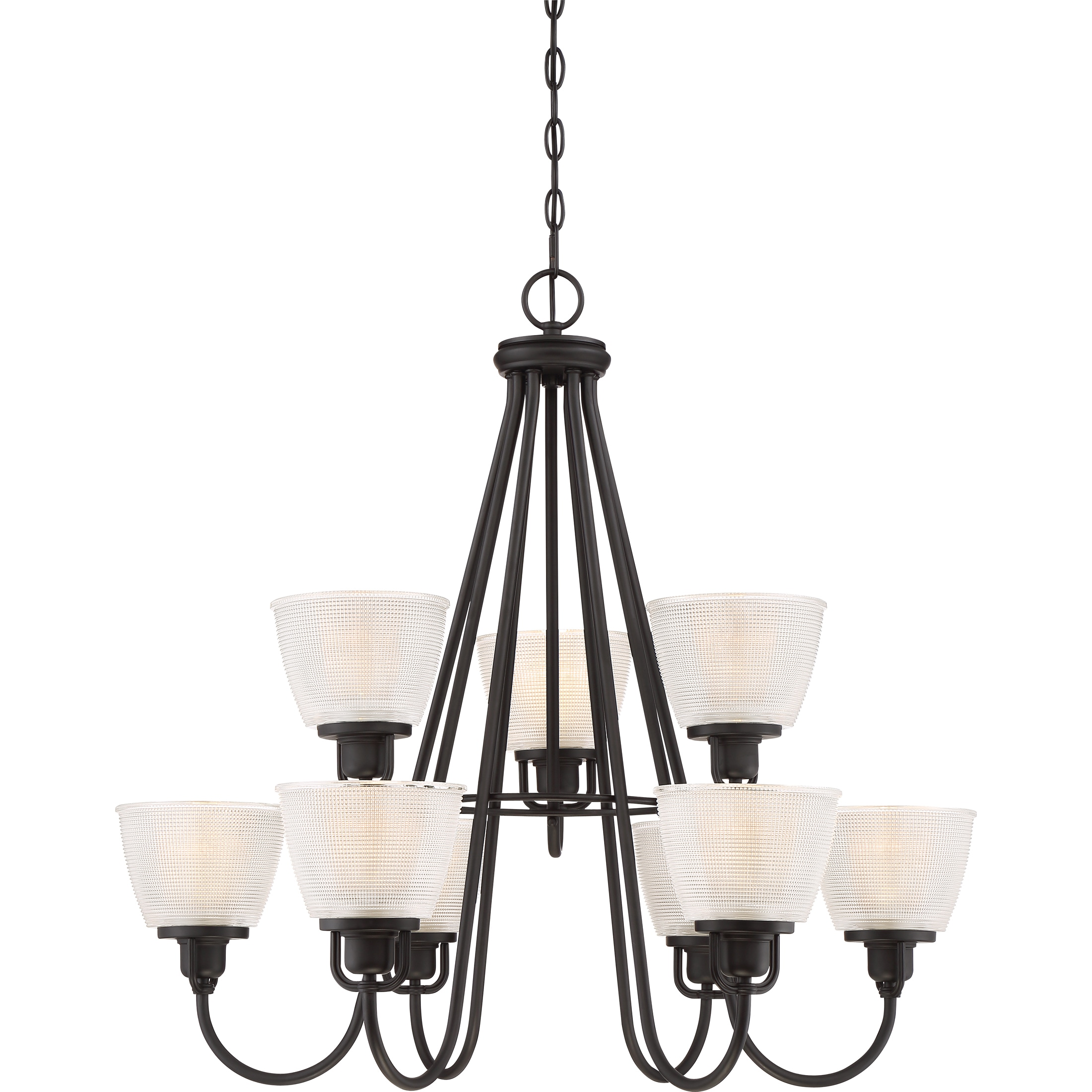 Shop quoize dublin mystic black finish glass 9 light two tier chandelier free shipping today overstock 13914743
