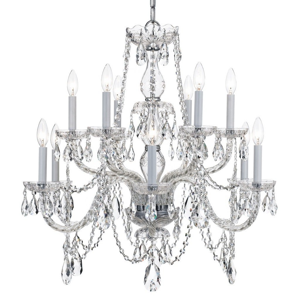 Crystorama traditional crystal collection 12 light polished chrome crystorama traditional crystal collection 12 light polished chromeswarovski elements spectra crystal chandel free shipping today overstock arubaitofo Gallery