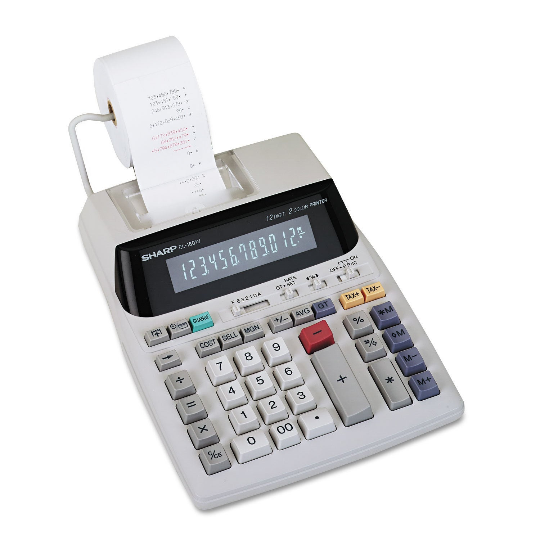 Sharp El 1801v Two Color Printing Calculator Black Red Print 21 Kalkulator Casio Portable Printer Hr 8 Tm Lines Sec Free Shipping Today Overstock 20551284