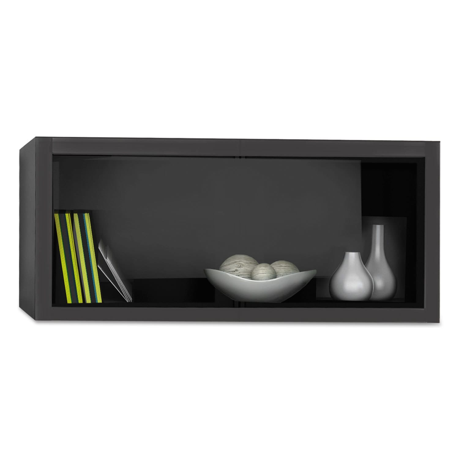 Mayline E5 Overhead Storage Cabinet 30 Inch Wide X 15 Deep High Raven Free Shipping Today 13919039