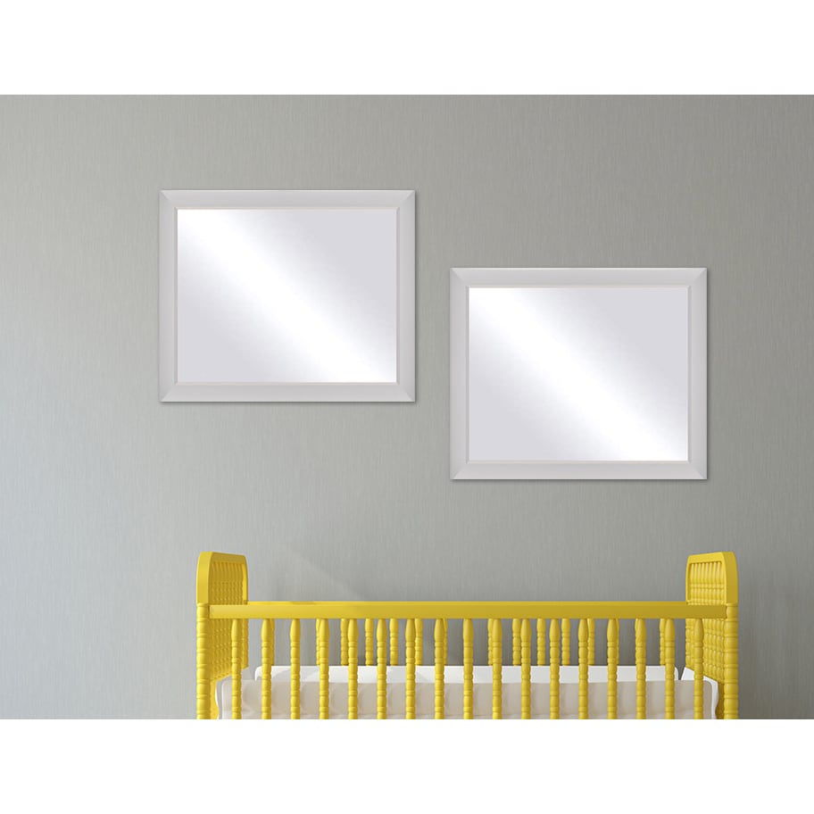 Shop Framed Mirror - White - On Sale - Free Shipping Today ...