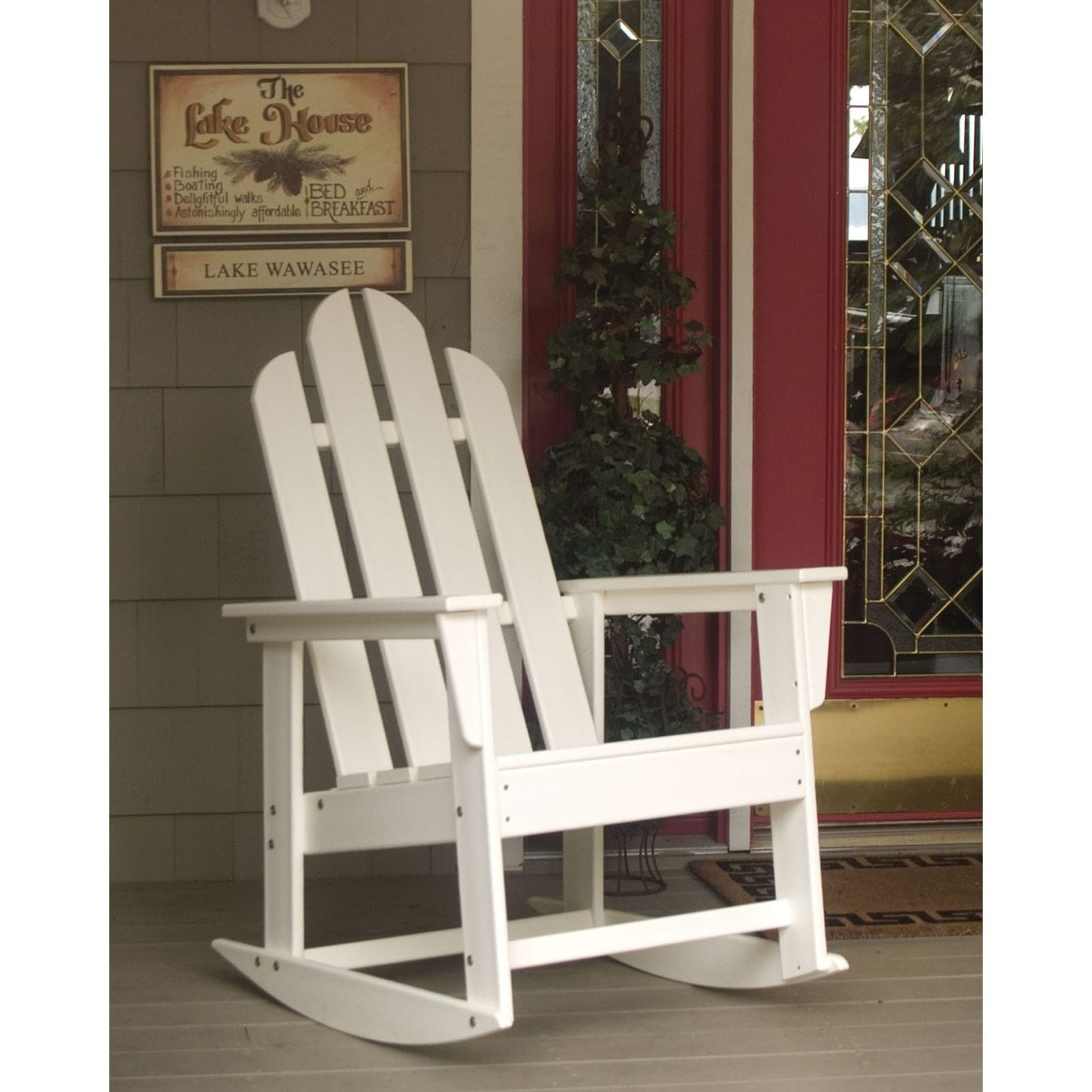 Shop POLYWOOD Long Island Outdoor Rocking Chair   Free Shipping Today    Overstock.com   13928563