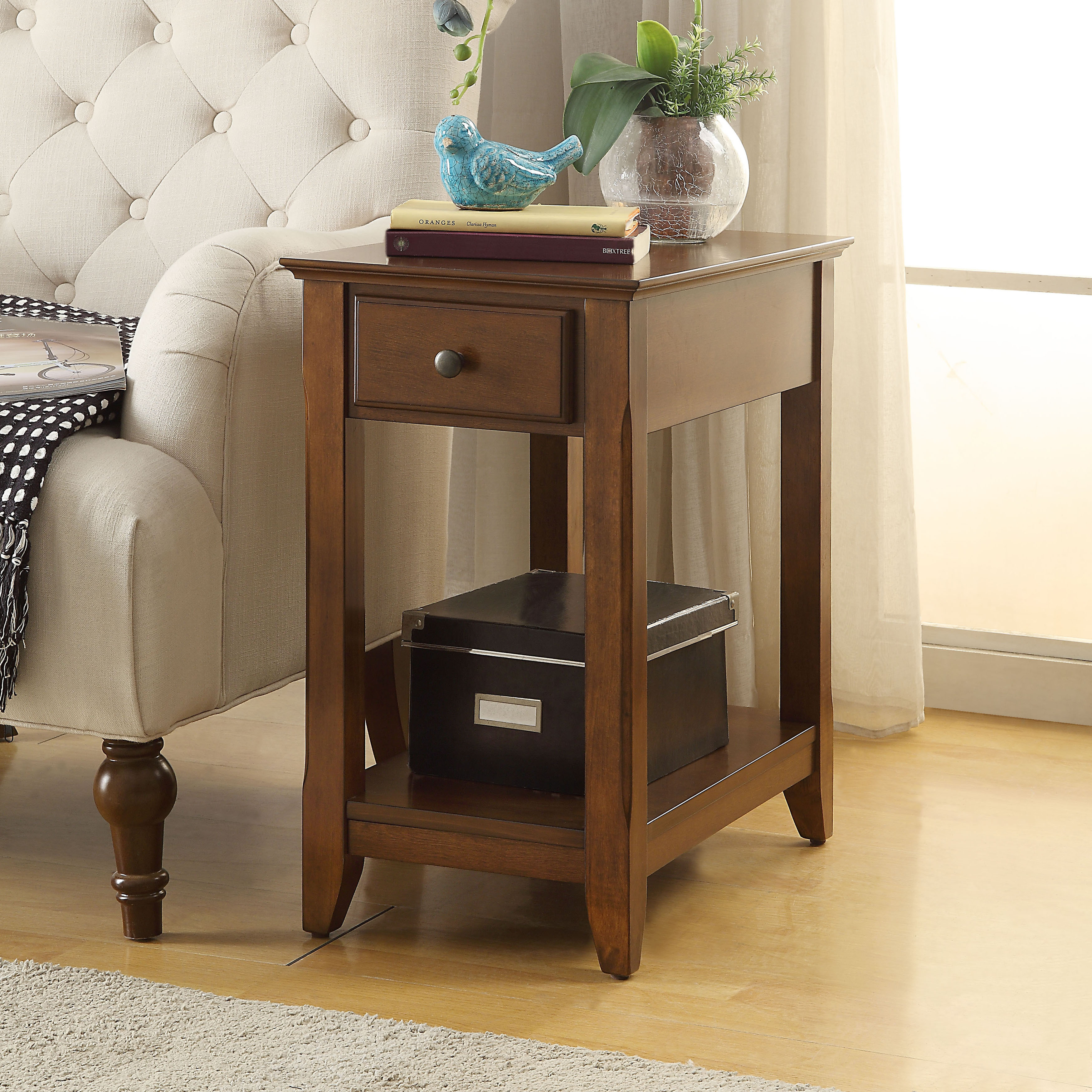 Merveilleux Acme Furniture Bertie Wood Transitional Side Table