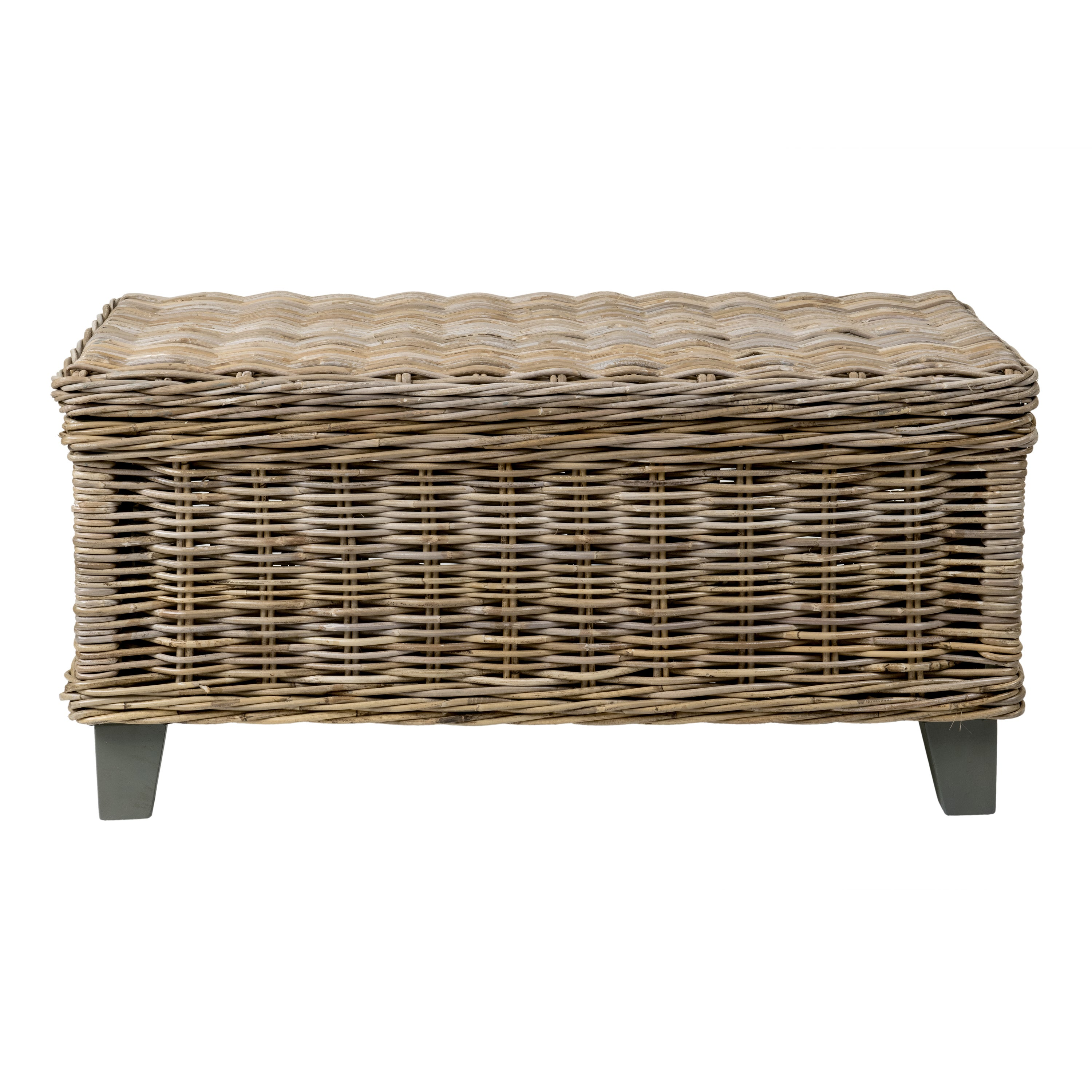 East At Main S Hayward Brown Rectangular Rattan Coffee Table Free Shipping Today 13929204