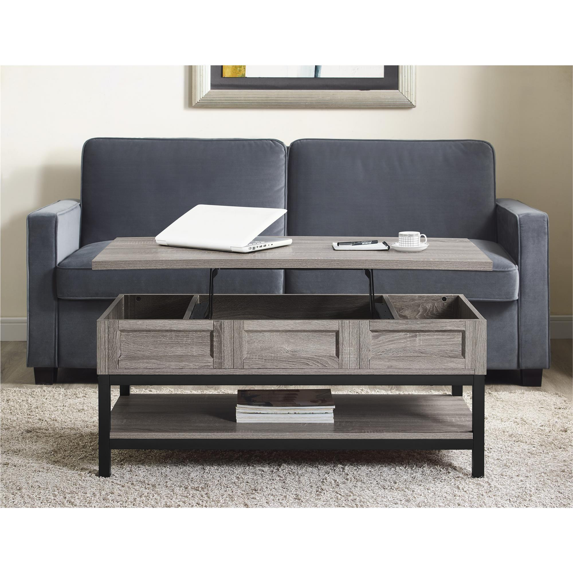 Captivating Ameriwood Home Barrett Modern Farmhouse Lift Top Sonoma Oak Coffee Table    Free Shipping Today   Overstock.com   20561911
