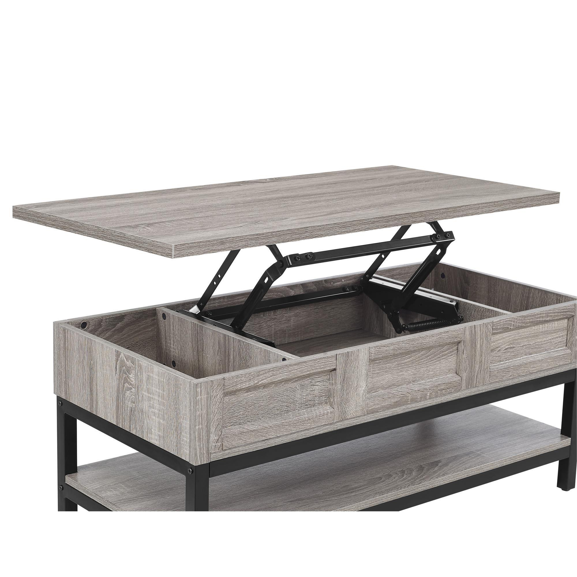 Awesome Ameriwood Home Barrett Modern Farmhouse Lift Top Sonoma Oak Coffee Table    Free Shipping Today   Overstock.com   20561911 Home Design Ideas