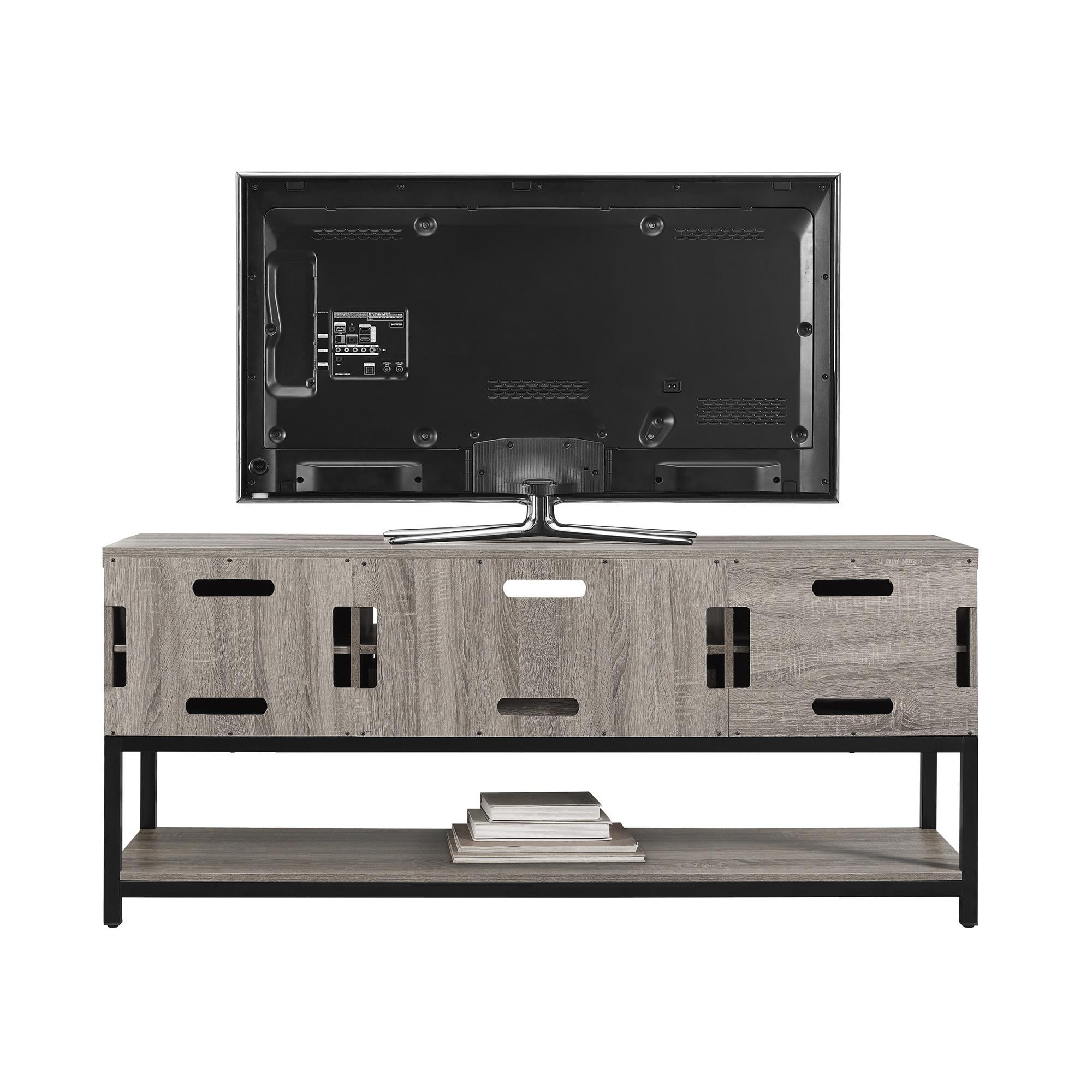 Table De Television Ameriwood Home Barrett Inch Sonoma Oak Tv  # Salon Avec Table Tele