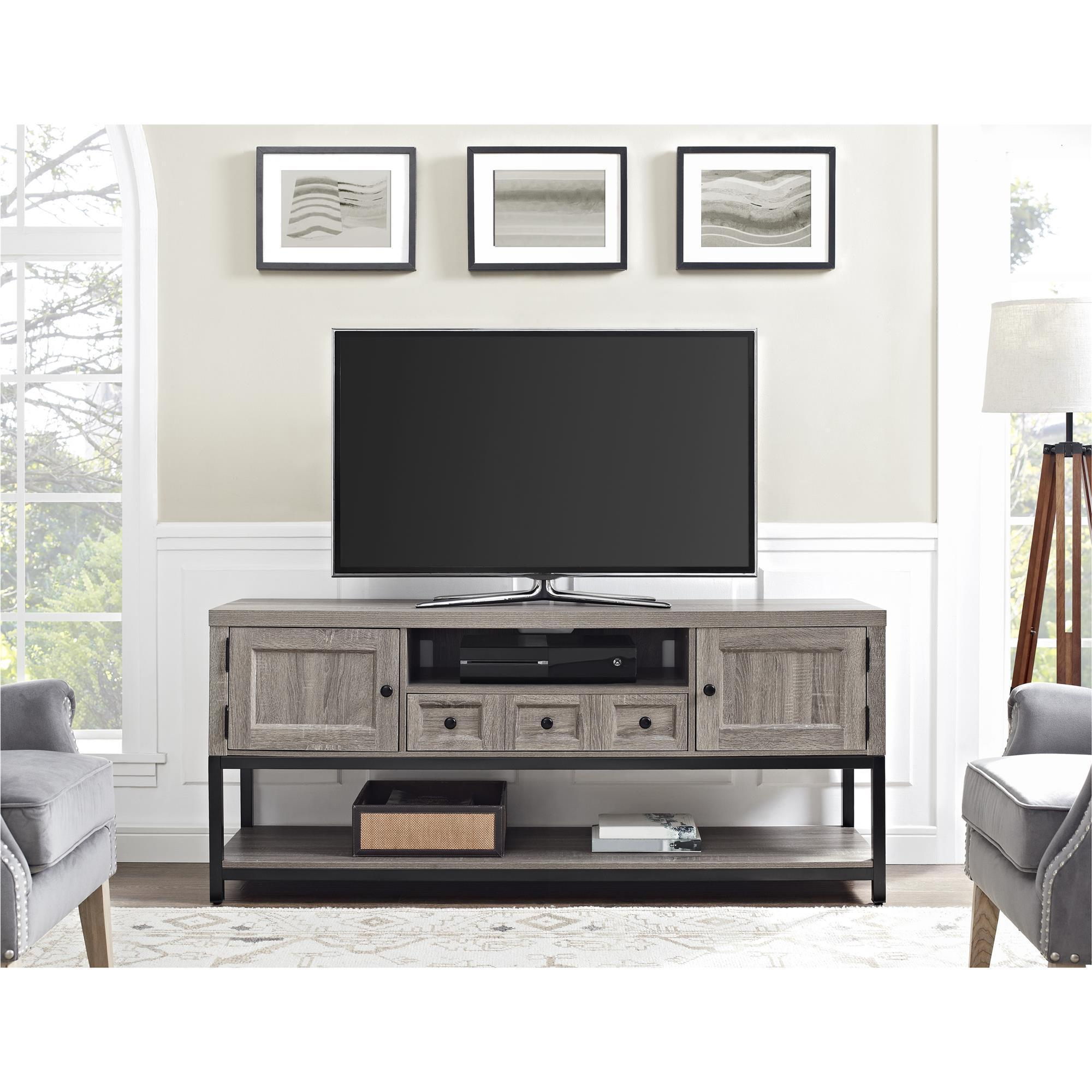 Ameriwood Home Barrett 70 Inch Mutlipurpose Sonoma Oak Tv Media  # Etagere Television Plat