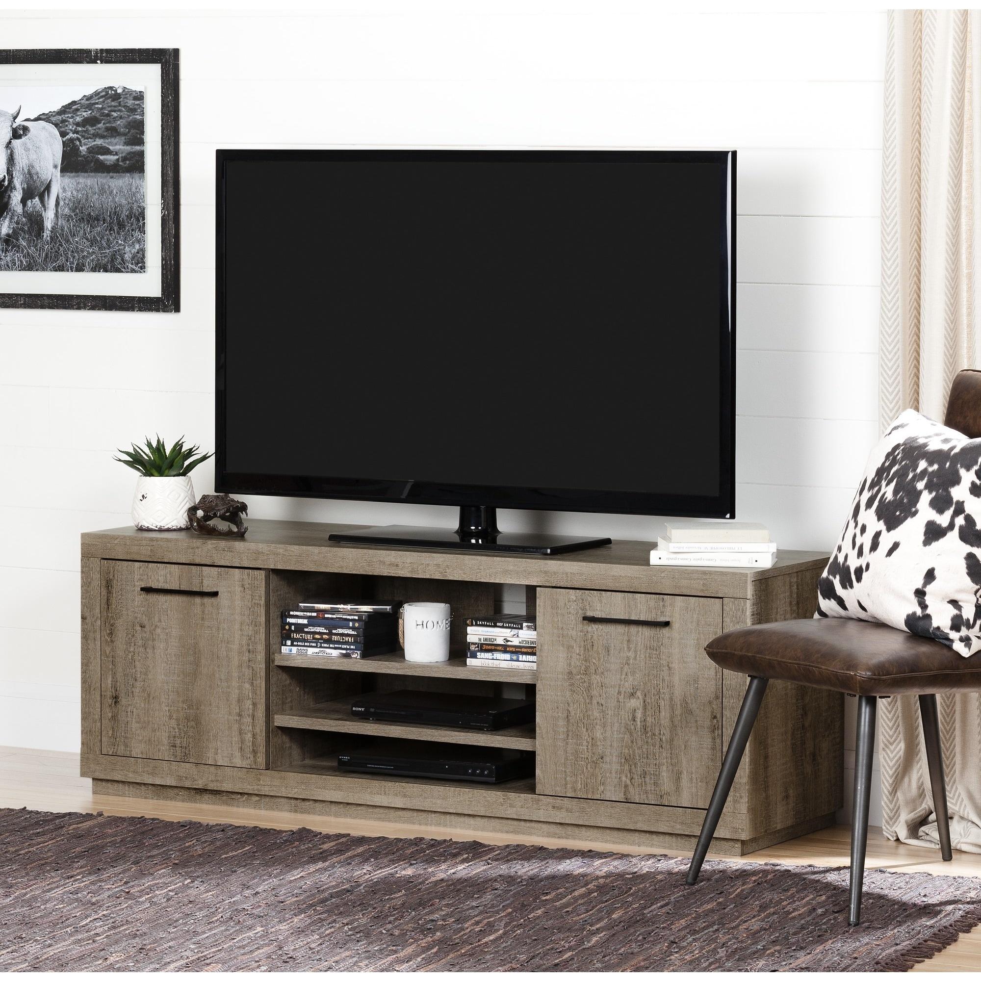 Shop South Shore Furniture Kanji Brown Laminate Tv Stand Free