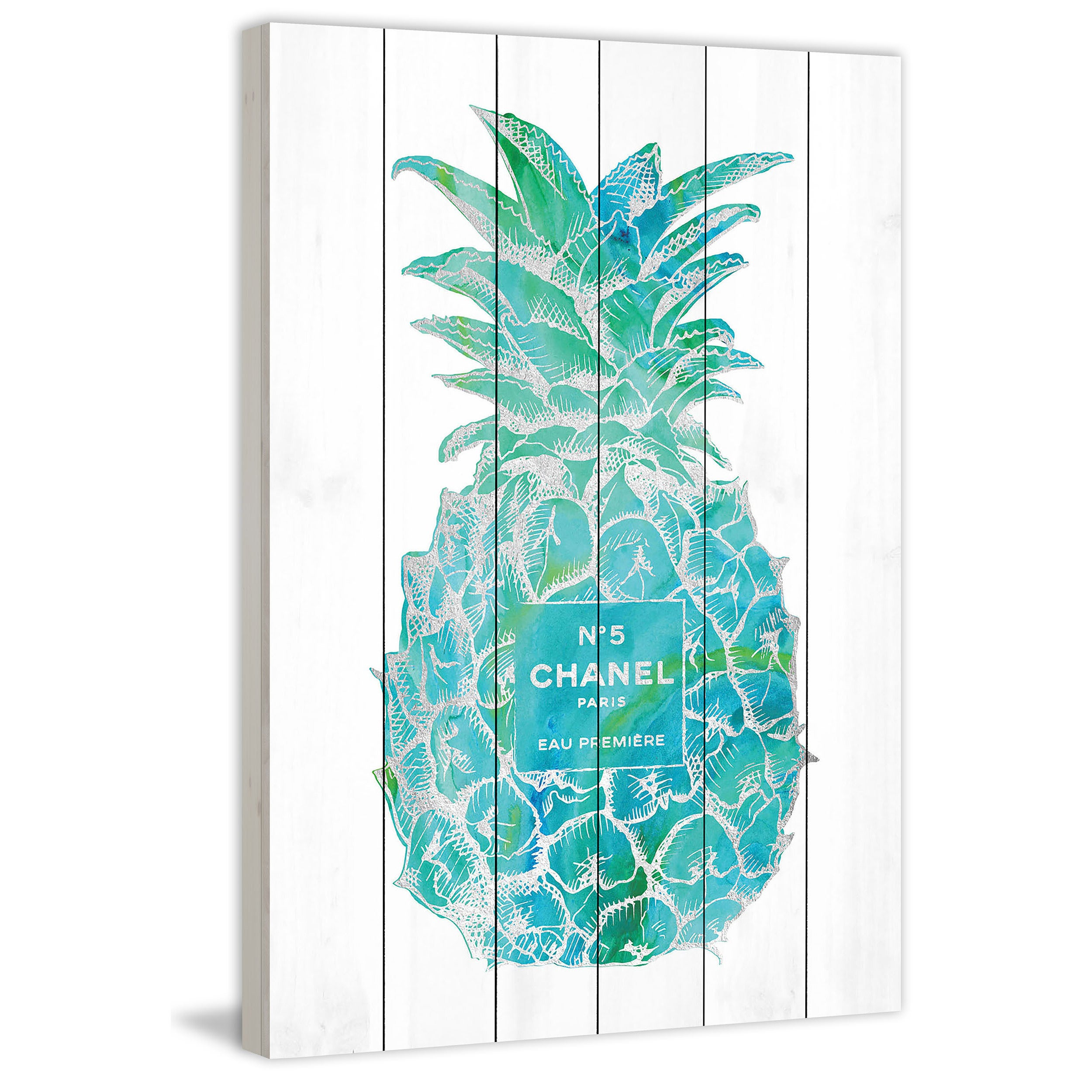 Shop Marmont Hill - \'Pineapple Trop Silver\' by Amanda Greenwood ...