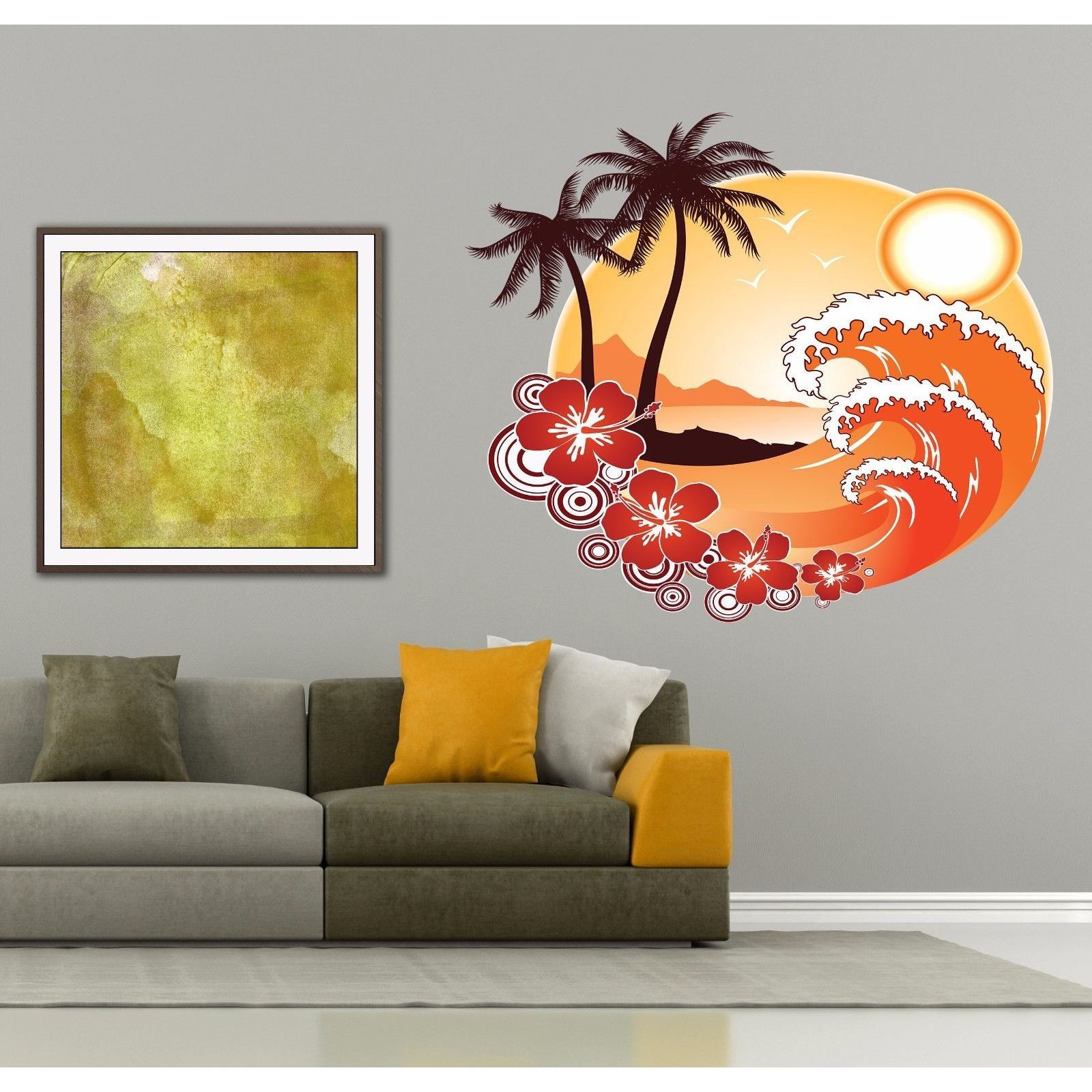 Shop Full Color Decal Beach Sun Ocean Sticker Beach Sun Decal Wall