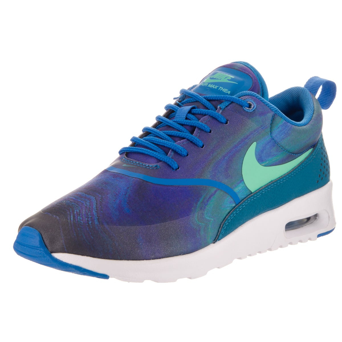 85f7a651ebd7 Shop Nike Women s Air Max Blue Gradient Thea Print Running Shoe ...