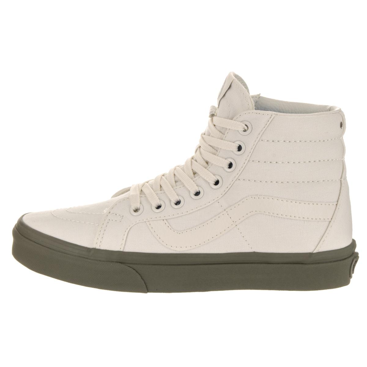 Shop Vans Unisex Sk8-Hi Reissue (Vansguard) White Canvas Skate Shoes - Free  Shipping Today - Overstock.com - 13934407 fff21fafe8