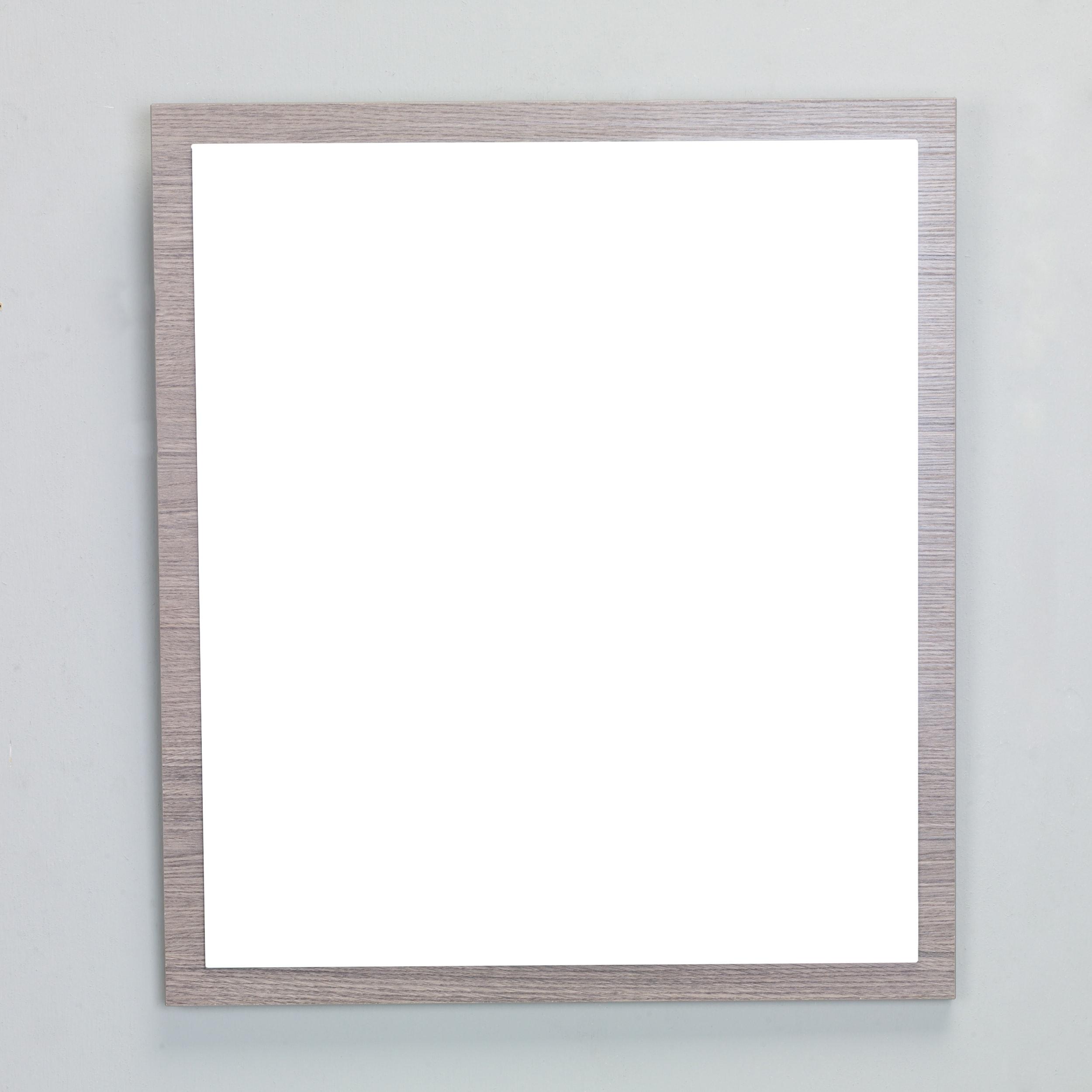Eviva Reflection 24-inch Medium Oak Full Framed Bathroom Wall Mirror ...