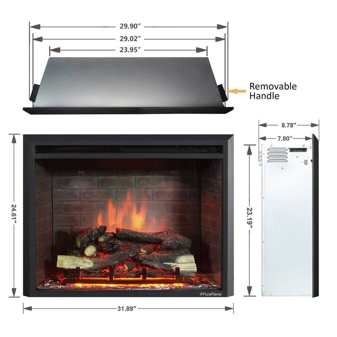 fireplaces dynasty products electric dy infrared fireplace ca in built efca insert accessories