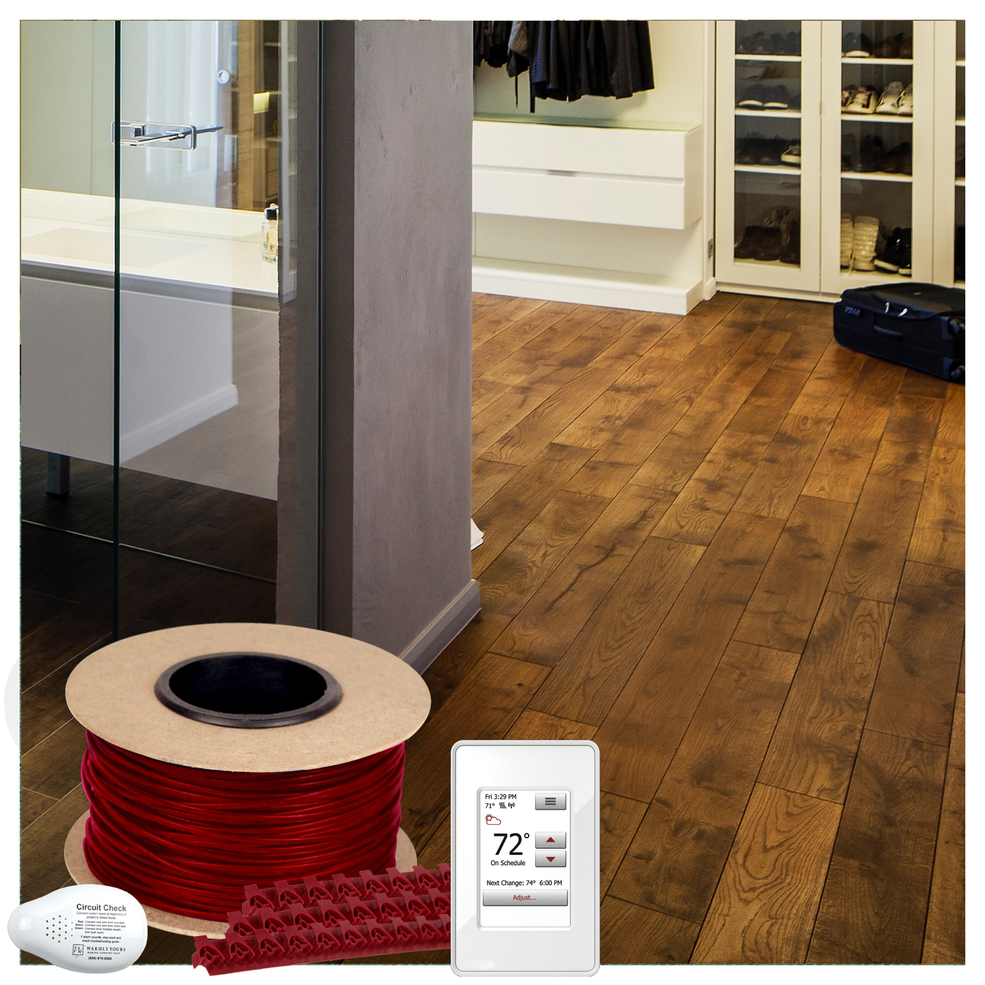 Warmlyyours 92 Sq Ft 240v Electric Floor Heating Cable Kit