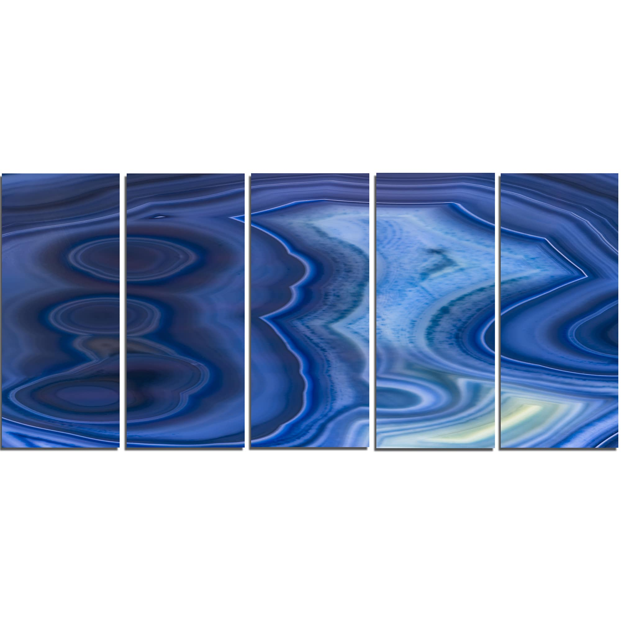 Blue Metal Wall Art Brilliant Designart 'blue Agate Stone Design' Abstract Metal Wall Art  Free Design Ideas