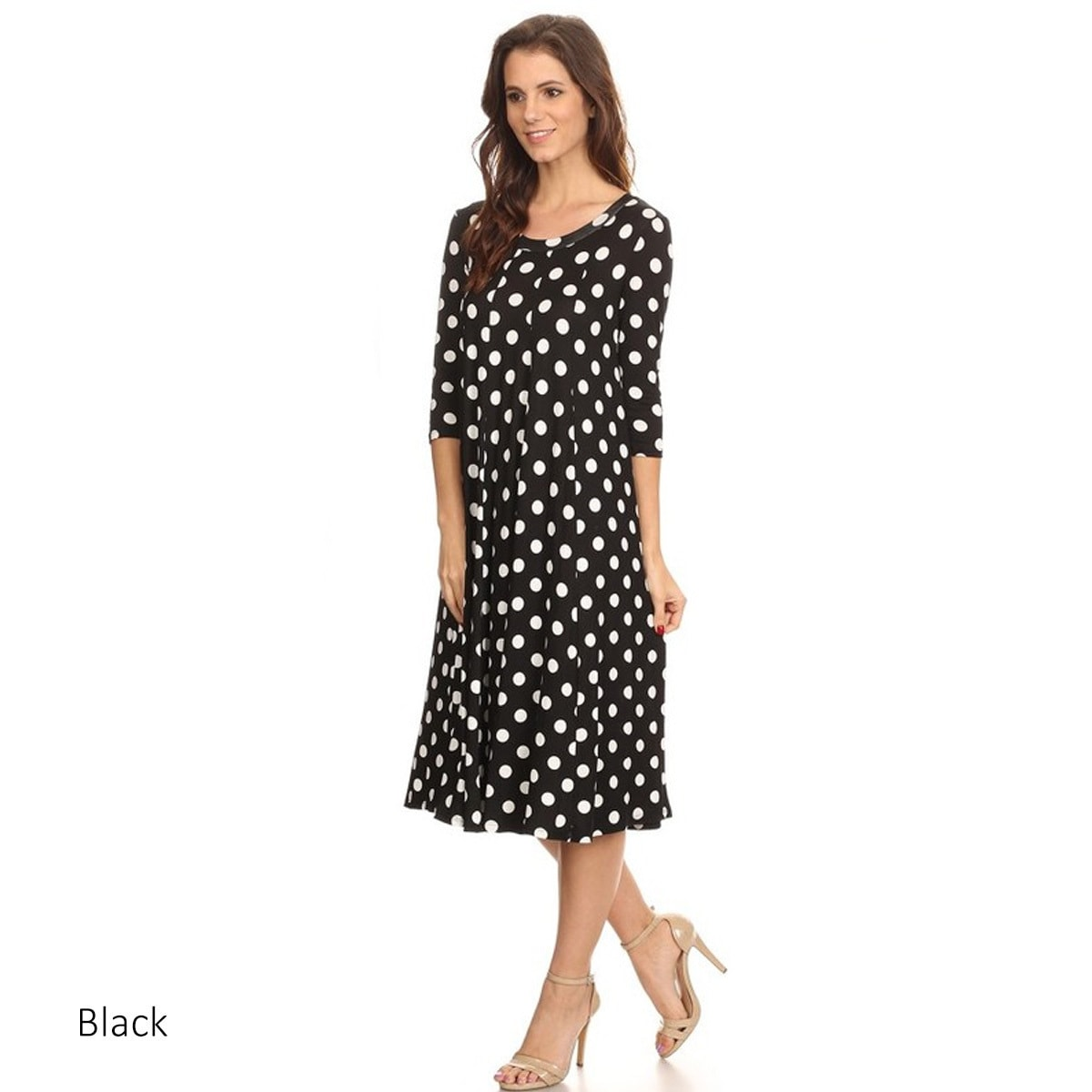 Women\'s Polka-dot Mid-length Dress - Free Shipping Today - Overstock ...