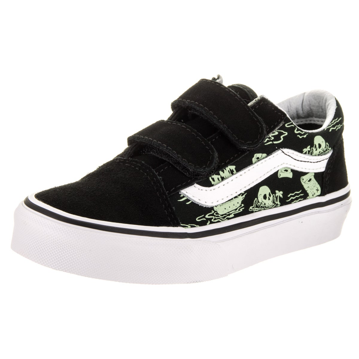 Shop Vans Kids Old Skool V (Glow Pirate) Skate Shoe - Free Shipping ... c29a3ff3f
