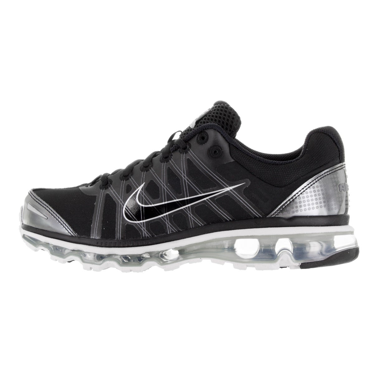 86b9d8accab92 Shop Nike Men s Air Max 2009 Black Synthetic Leather Running Shoes - Free  Shipping Today - Overstock - 13982325