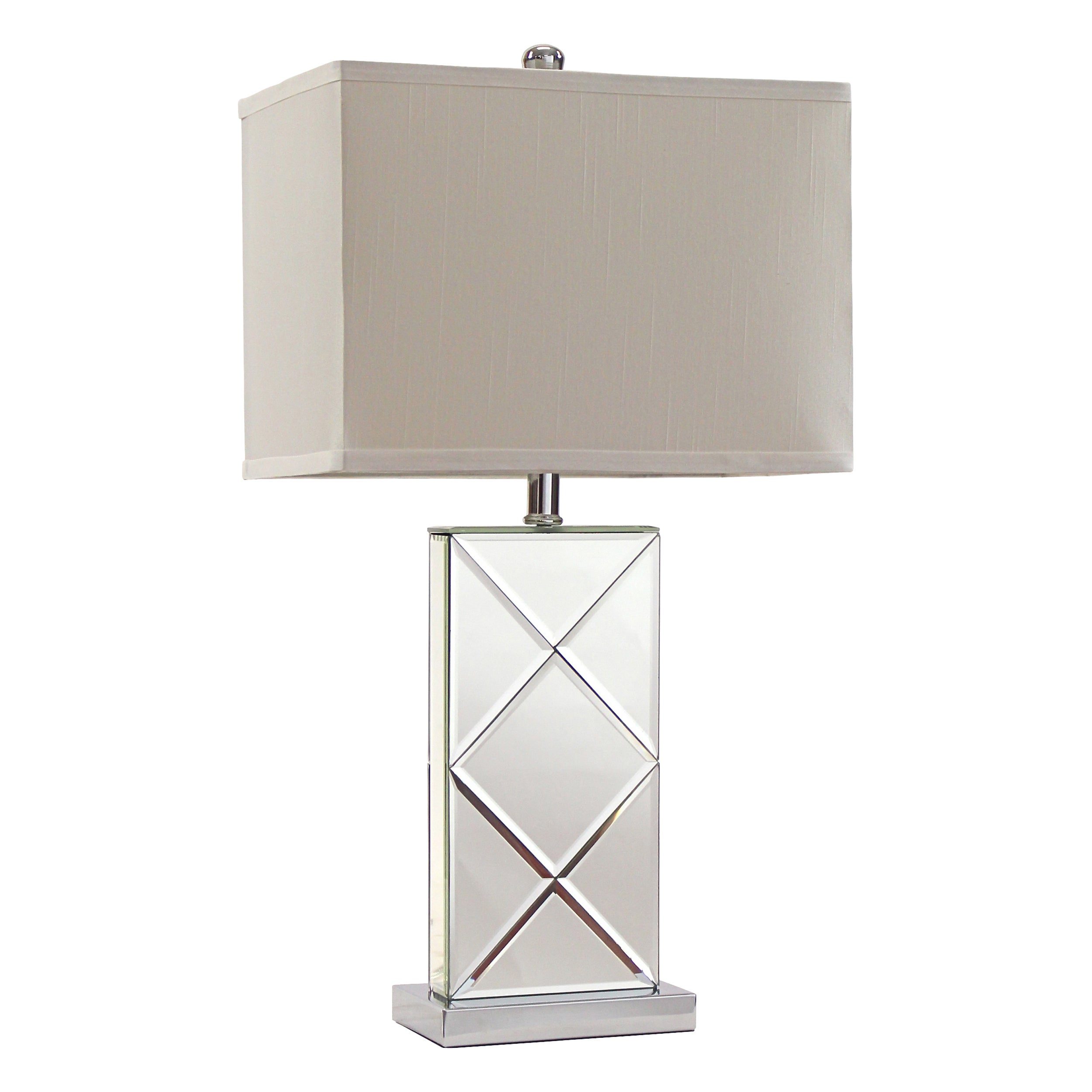 Rory Mirrored Table Lamp Set Of 2 Free Shipping Today 13982342