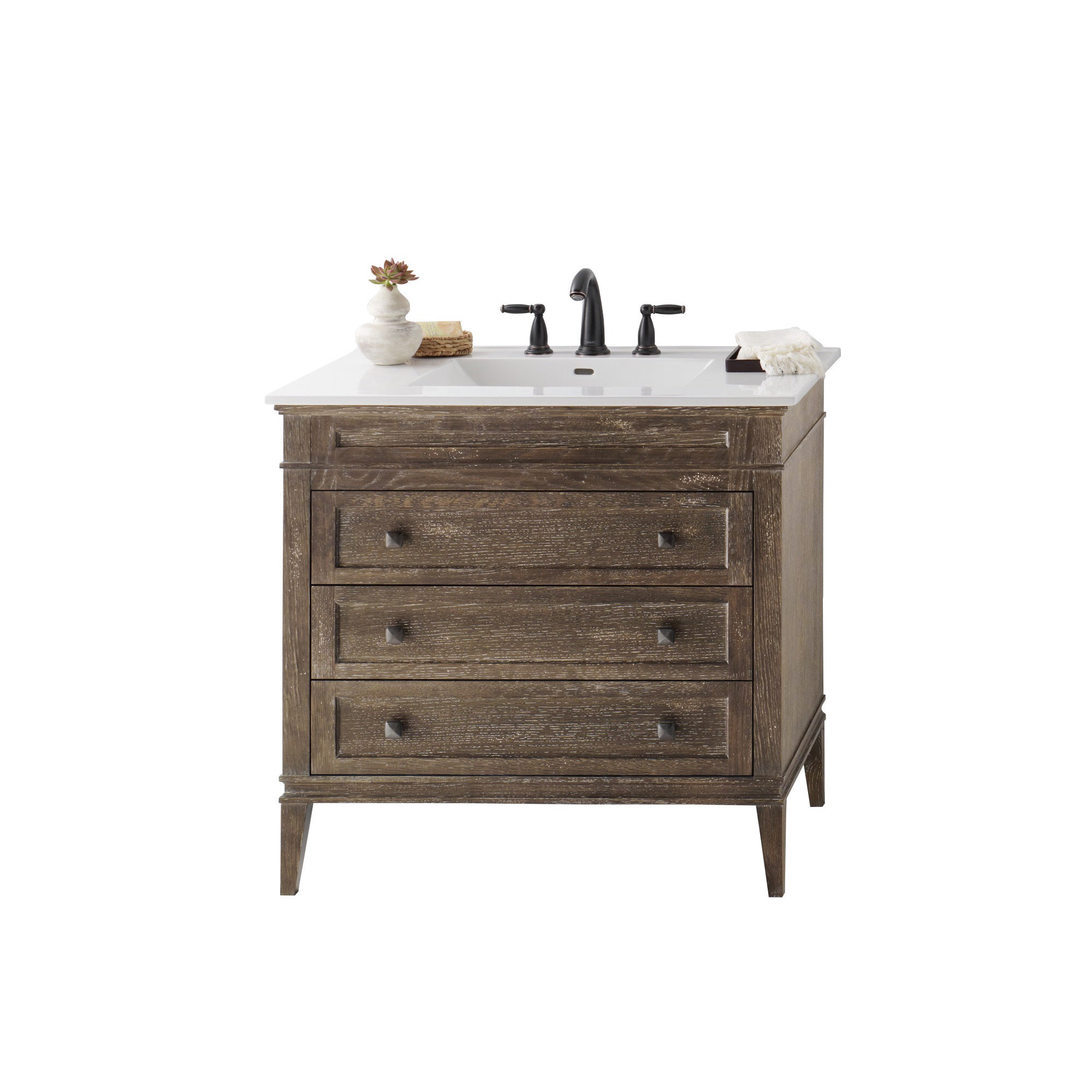 Ronbow Laurel 36 Inch Bathroom Vanity Set In Vintage Cafe With Ceramic Sink Top White Free Shipping Today 13983801
