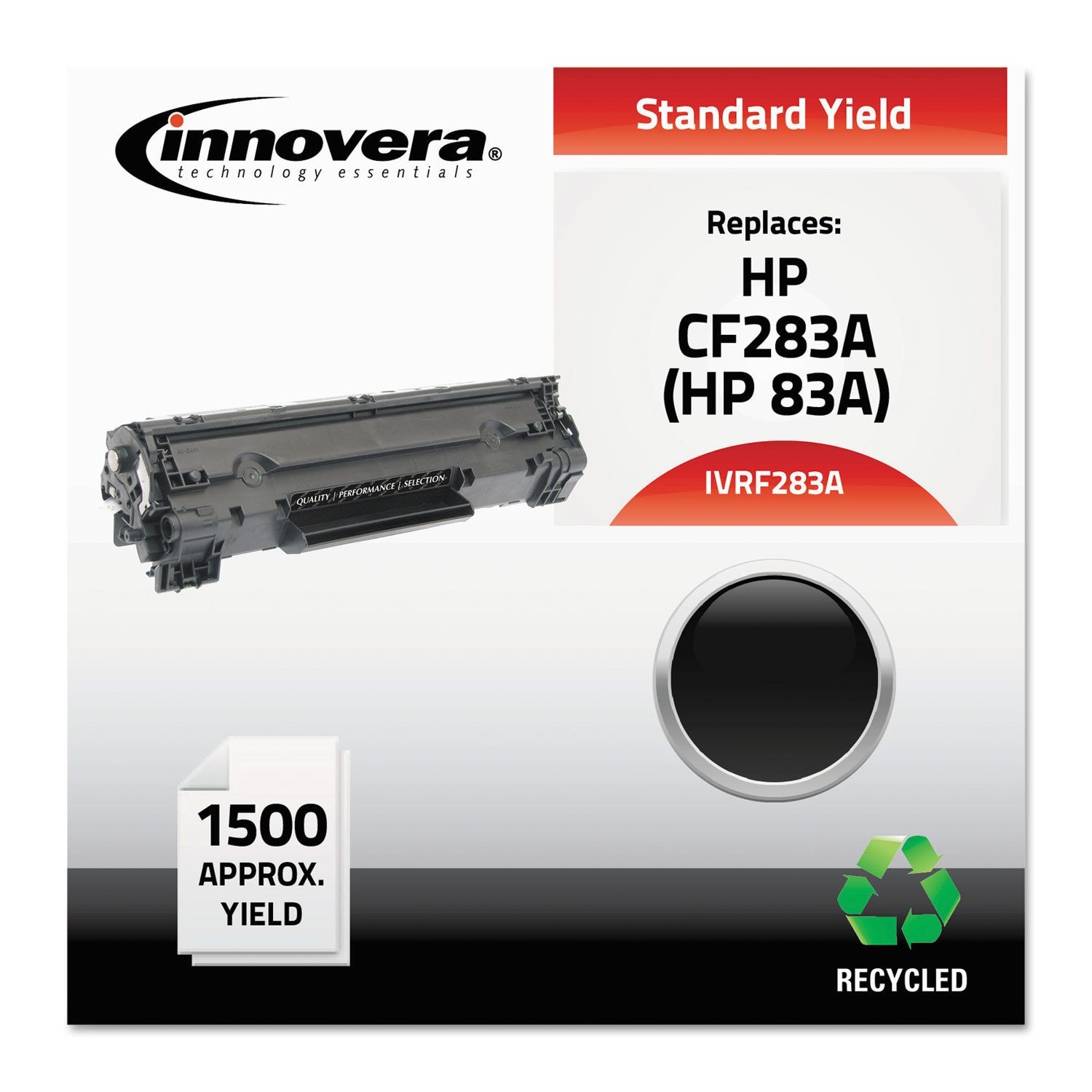 Shop Innovera F283a Compatible Reman Cf283a 83a Toner 1500 Page Hp Black Yield Free Shipping Today 13983829