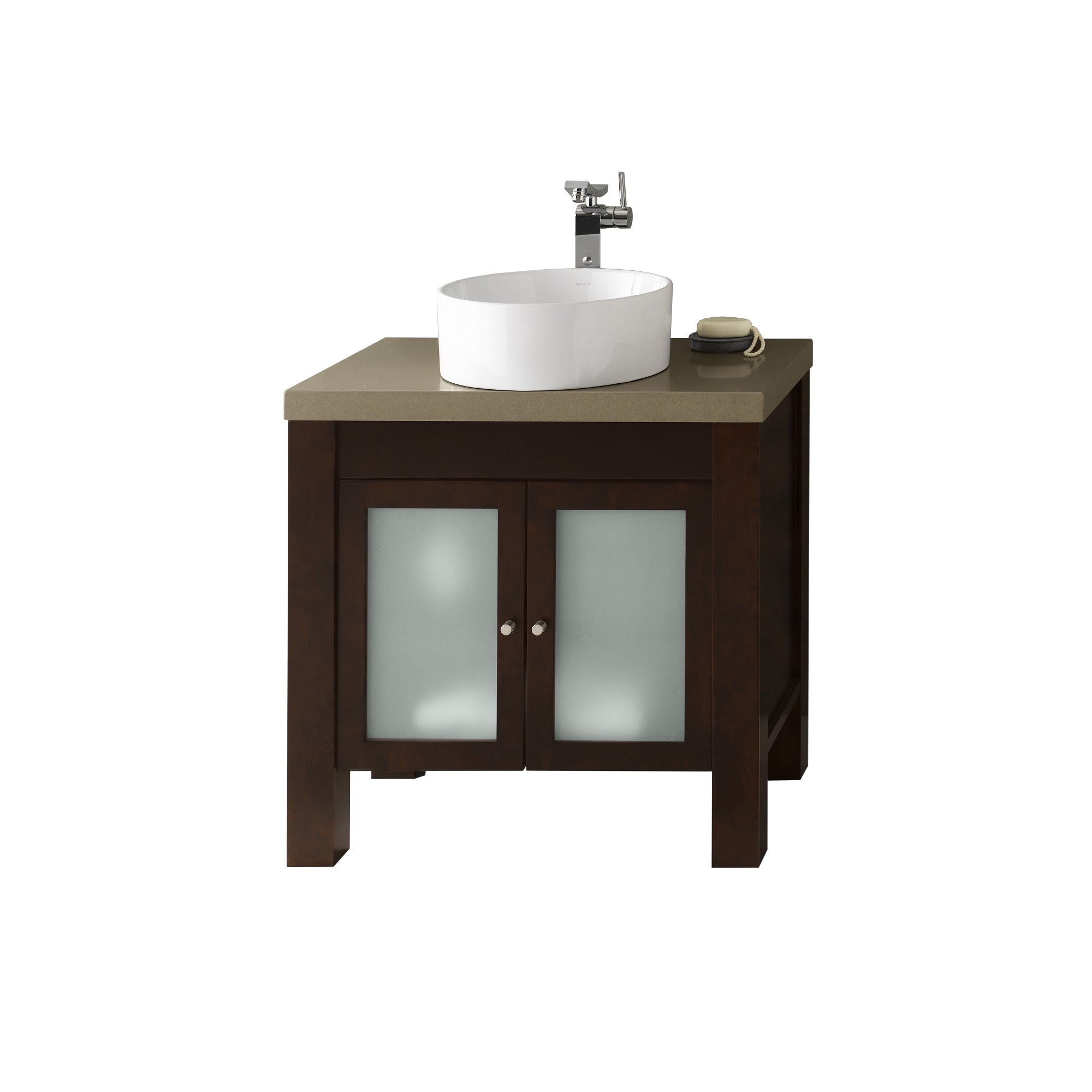 Shop Ronbow Devon 31-inch Bathroom Vanity Set in Vintage Walnut ...