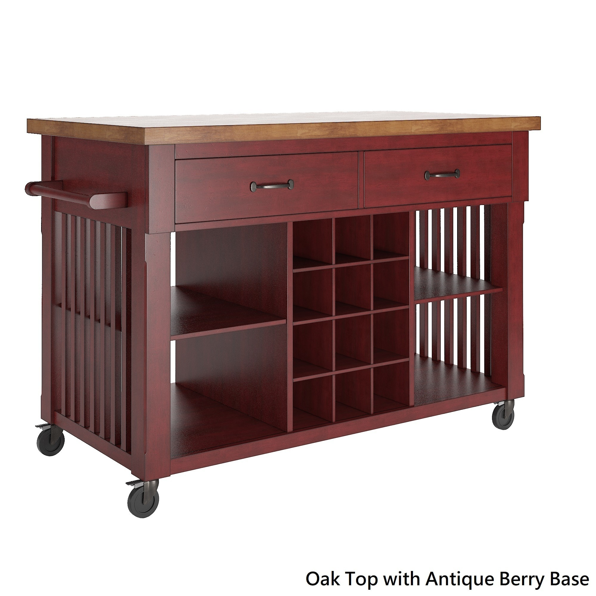 Shop Eleanor Two Tone Kitchen Island With Wine Rack By Inspire Q