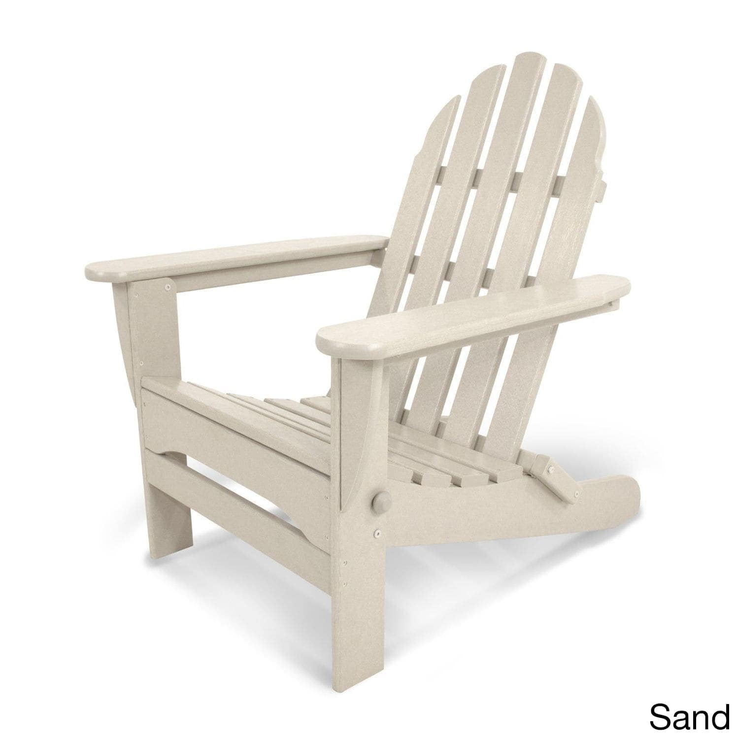 shop polywood classic outdoor folding adirondack chair free
