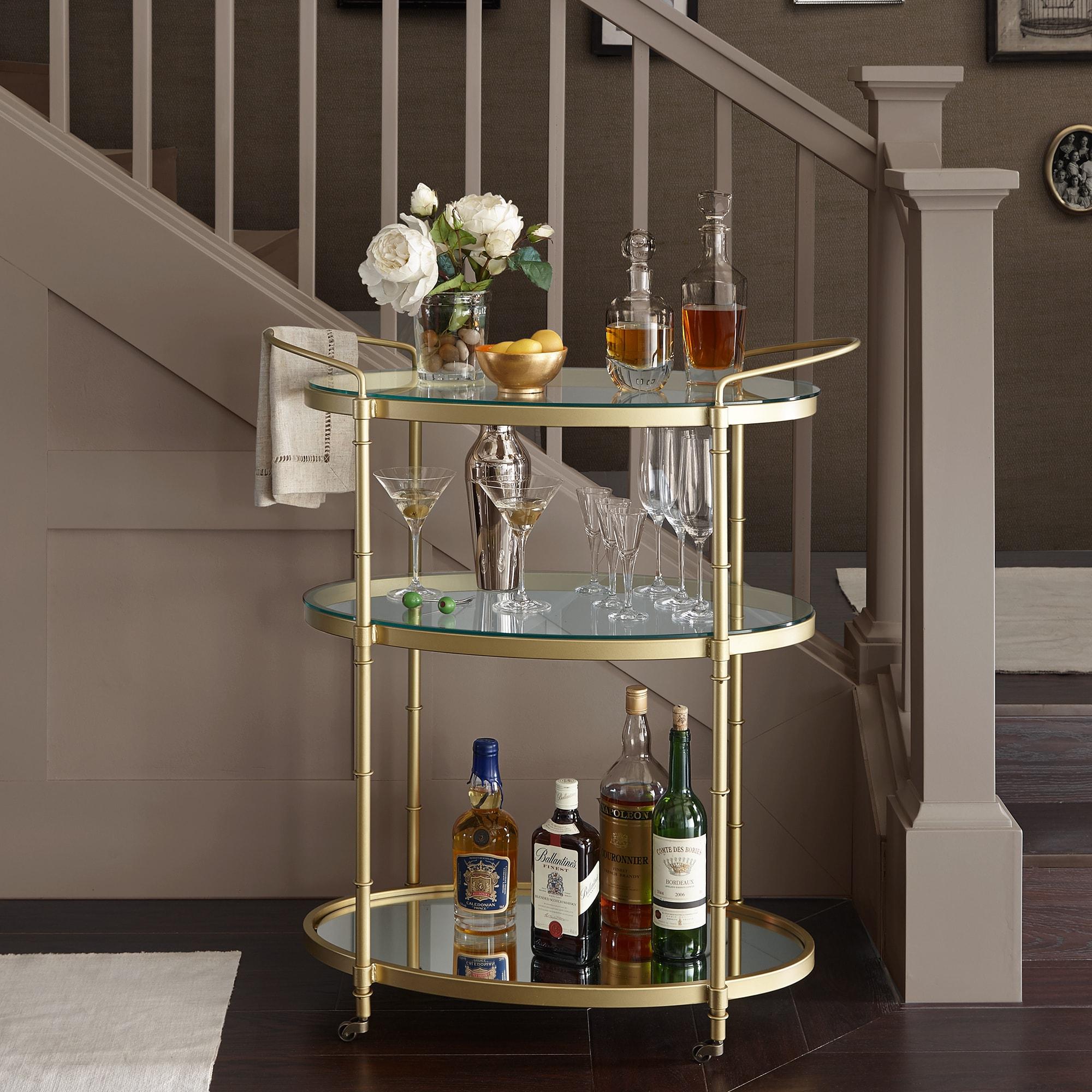 Shop Madison Park Signature Lauren Antique Gold Bar Cart - 32.25