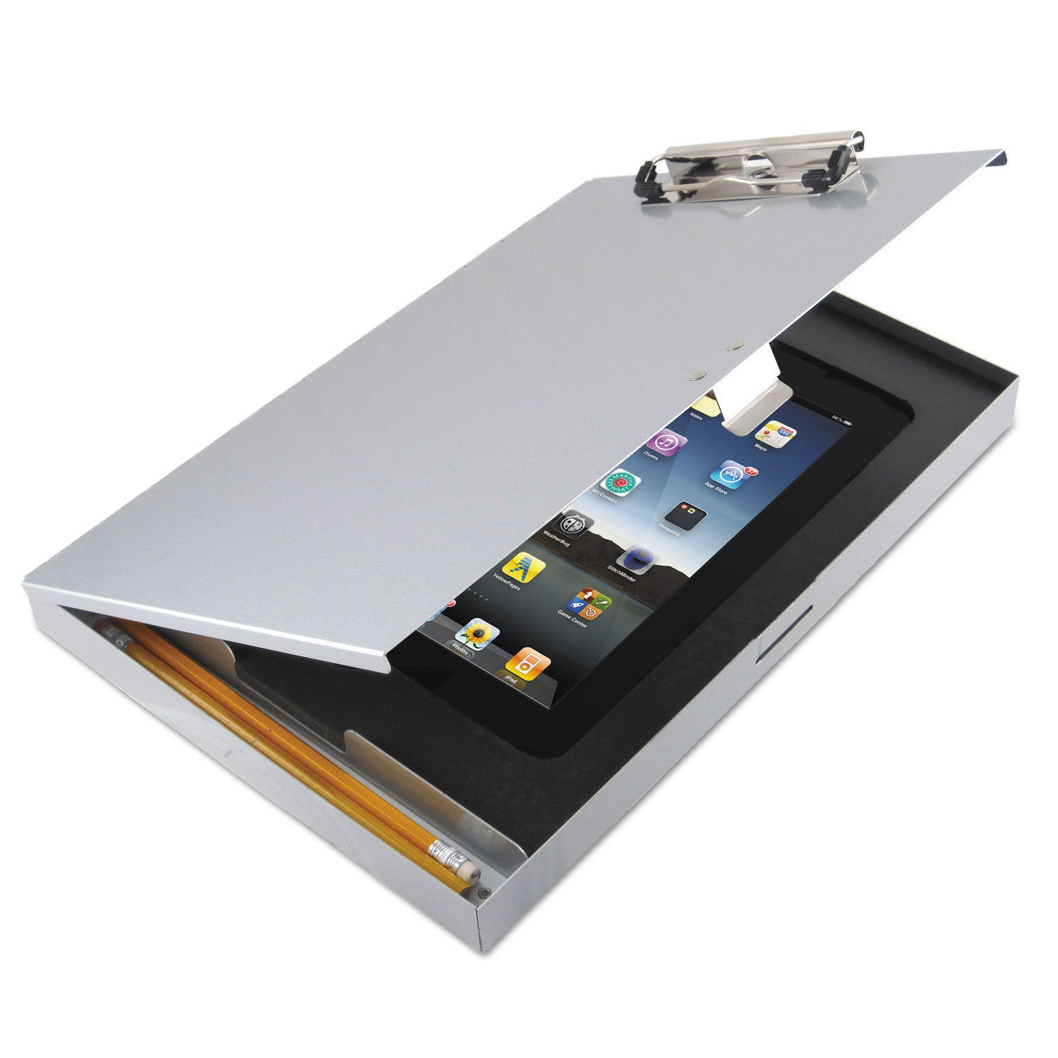 Shop Saunders Tuffwriter Recycled Aluminum Storage Clipboard For IPad Air 8  1/2 X 12 Silver   Free Shipping Today   Overstock.com   13986133