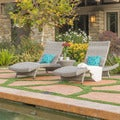 Crete Outdoor 3-piece Wicker Adjustable Chaise Lounge Set by Christopher Knight Home