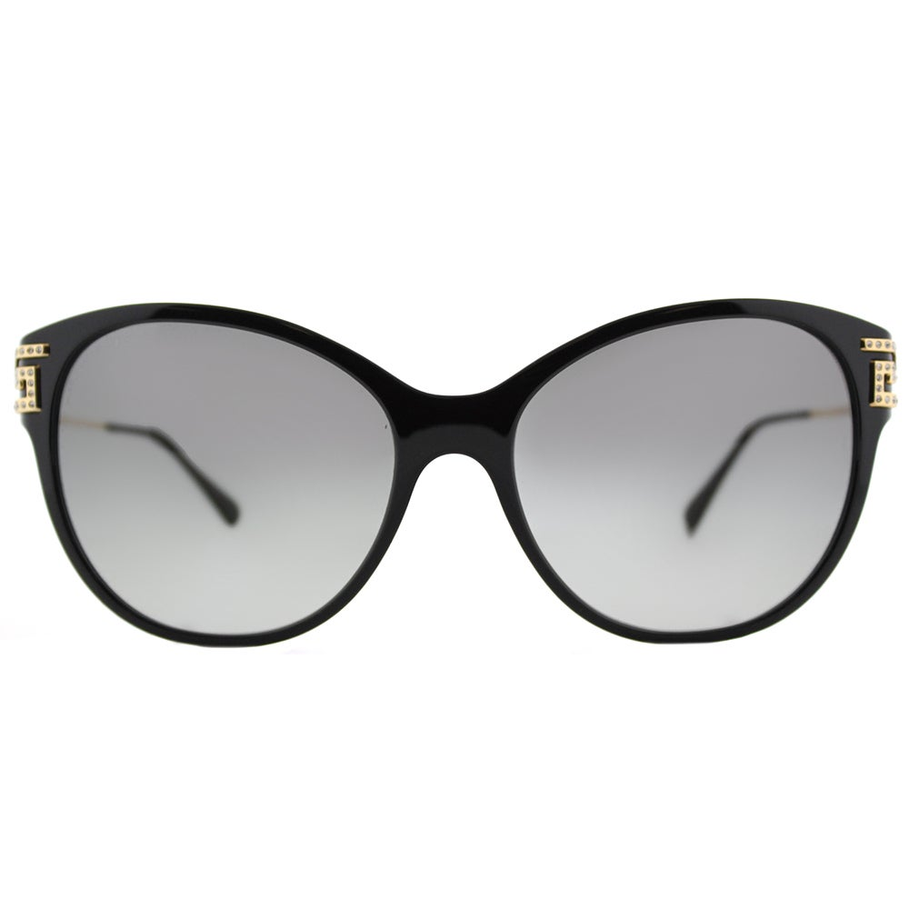 d3dbb2e3122c3 Shop Versace VE 4316 GB1 11 Greca Rock Icons Black Plastic Cat-Eye  Sunglasses with Grey Gradient Lens - Free Shipping Today - Overstock -  13989066