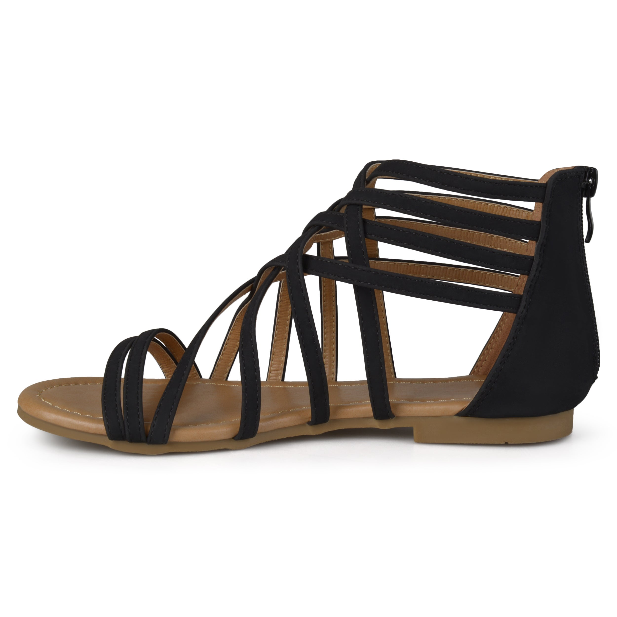 e8e79cdd6ab Shop Journee Collection Women s  Hanni  Flat Gladiator Sandals - Free  Shipping On Orders Over  45 - Overstock - 13989400
