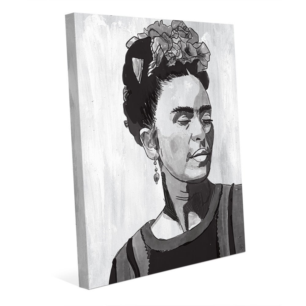 Shop frida kahlo black white canvas wall art free shipping today overstock 13995179