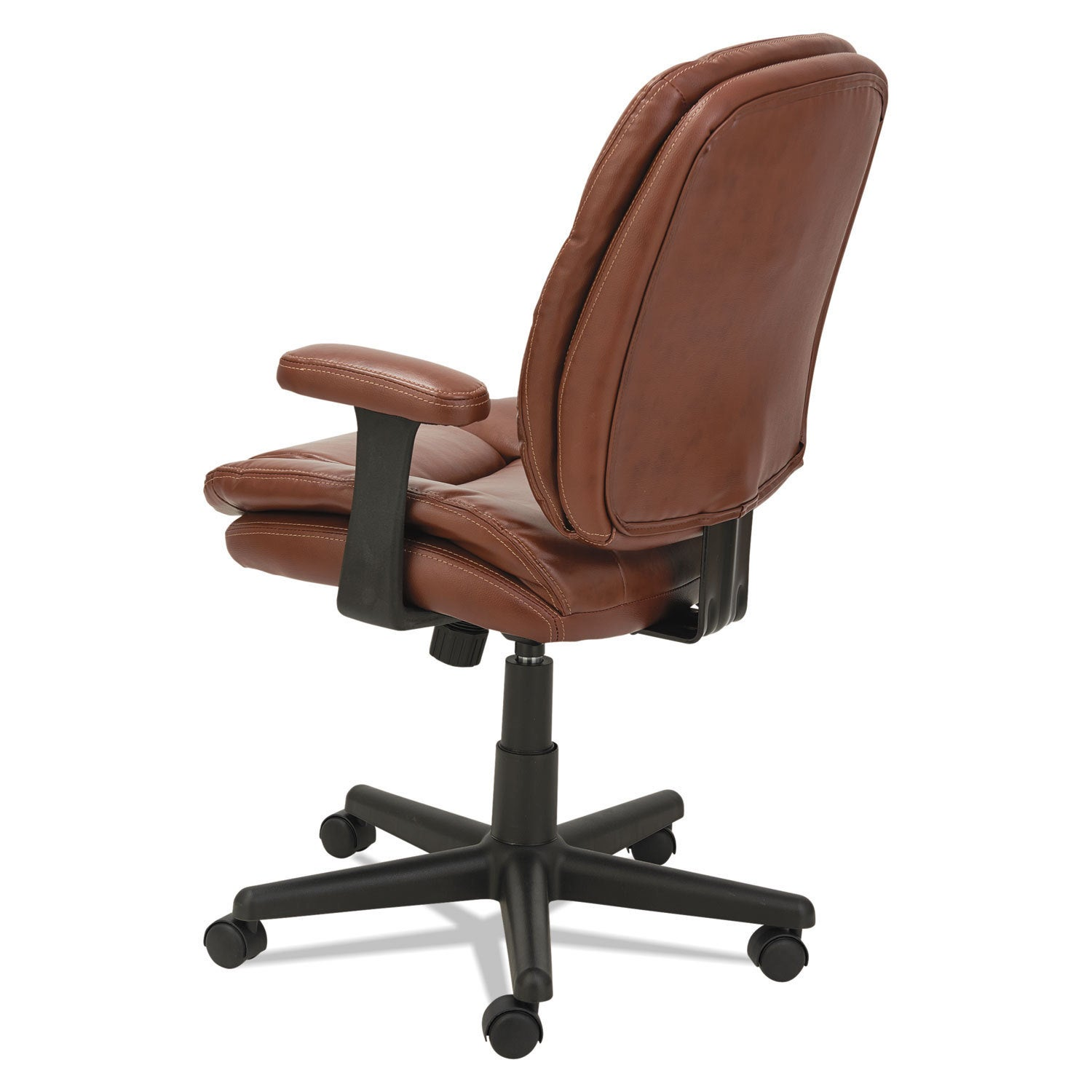 Shop OIF Swivel/Tilt Leather Task Chair Fixed T Bar Arms Chestnut Brown    Free Shipping Today   Overstock.com   13995758