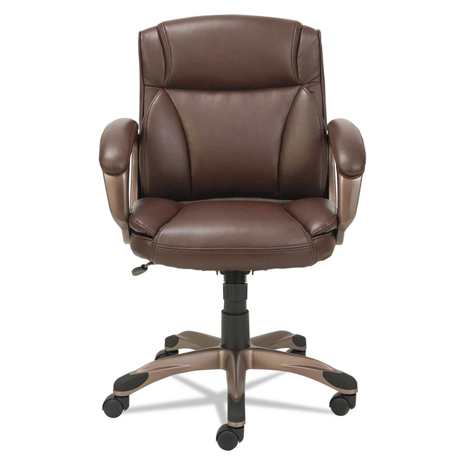 Beau Shop Alera Veon Series Low Back Leather Task Chair With Coil Spring Cushion  Brown   Free Shipping Today   Overstock.com   13995791