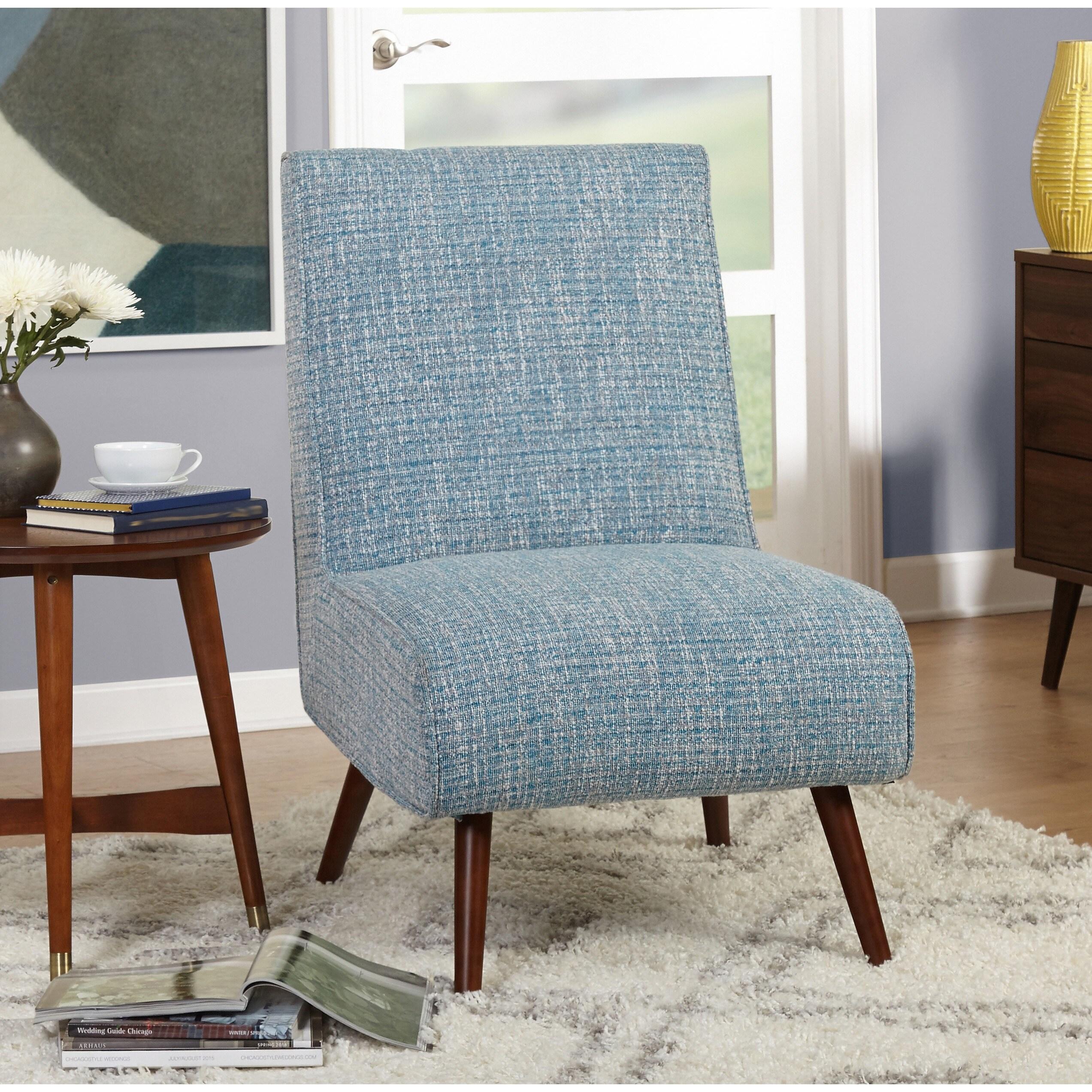 Stupendous Simple Living Mid Century Malone Blue Accent Chair Download Free Architecture Designs Embacsunscenecom