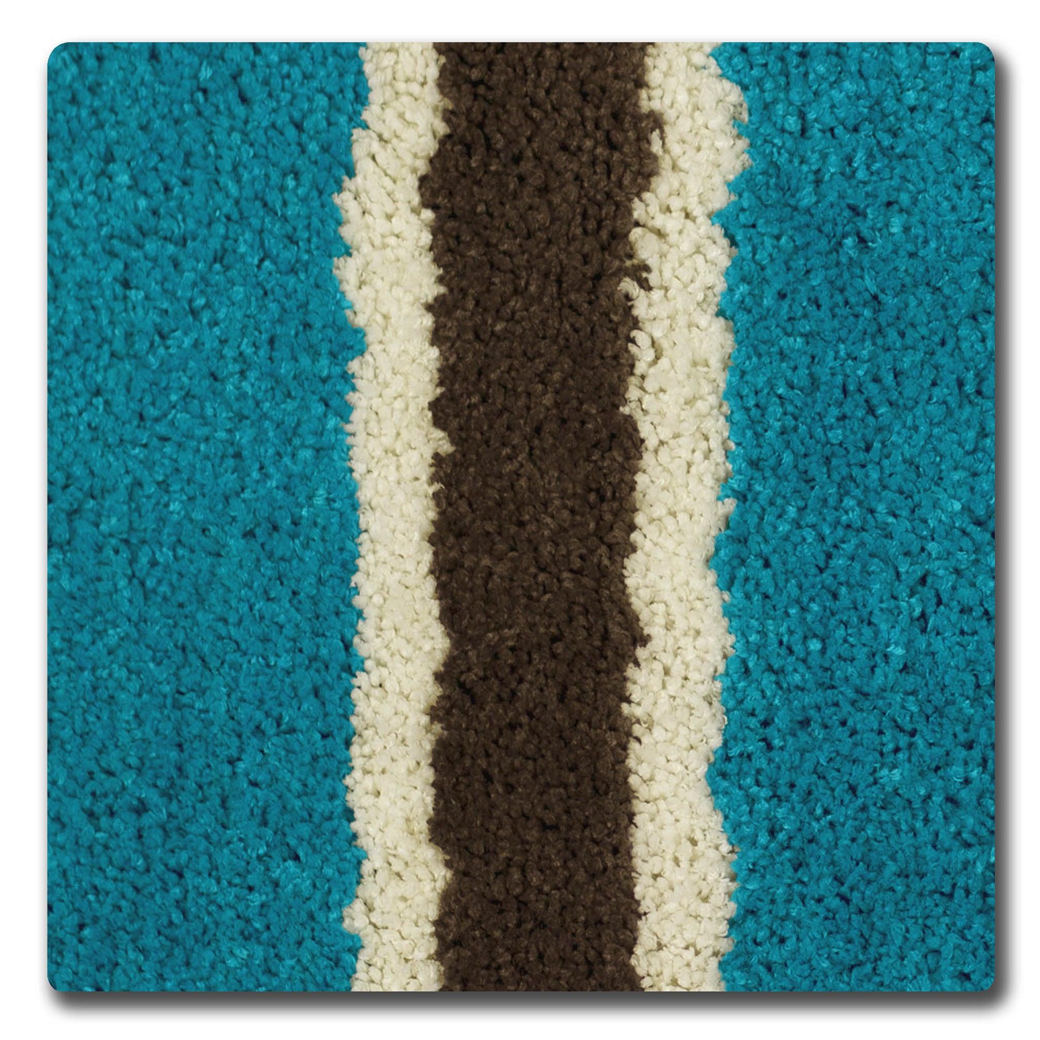 Shop Bathtopia Ace Microfiber Stripe 16 x 24 in. Bath Rug - Free ...