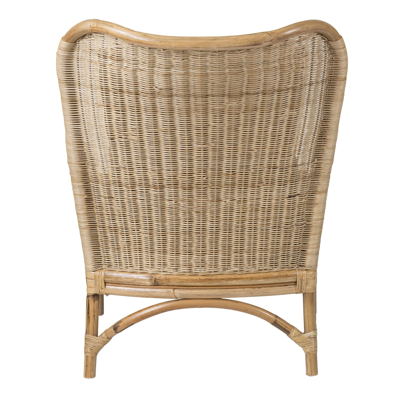 Shop East At Mainu0027s Lyndon Brown Square Rattan Accent Chair   Free Shipping  Today   Overstock.com   13996253