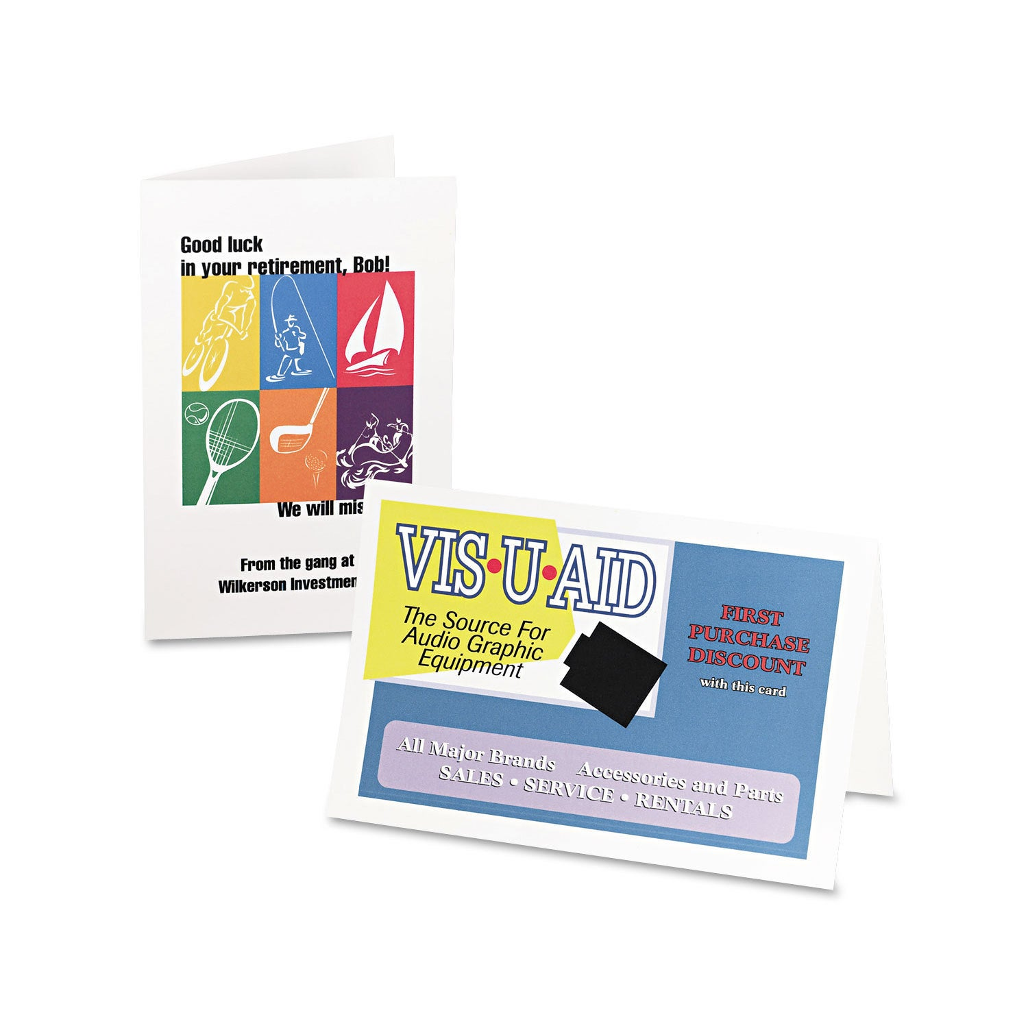 Shop avery half fold greeting cards inkjet 5 12 x 8 12 matte white shop avery half fold greeting cards inkjet 5 12 x 8 12 matte white 30box with envelopes free shipping on orders over 45 overstock 13997201 m4hsunfo