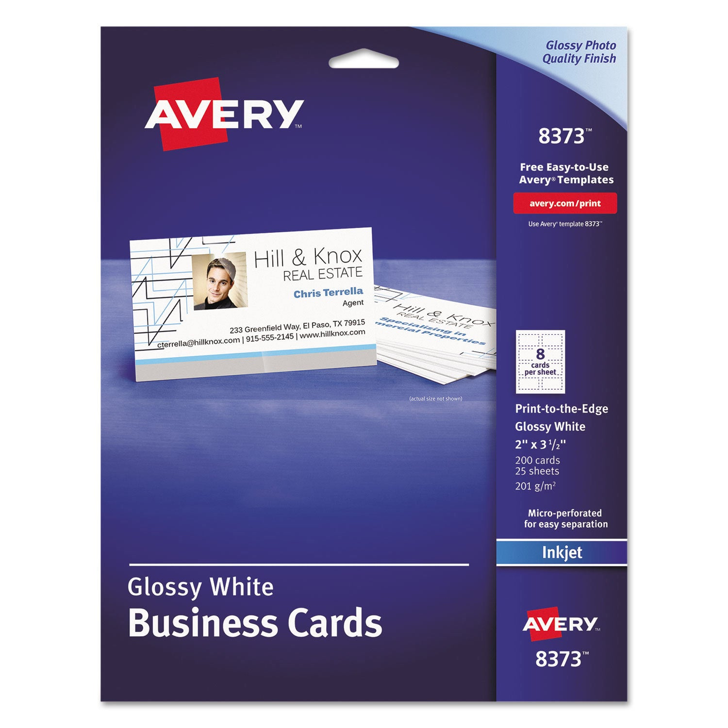 Shop Avery Print To The Edge Microperf Business Cards Inkjet 2x3 12