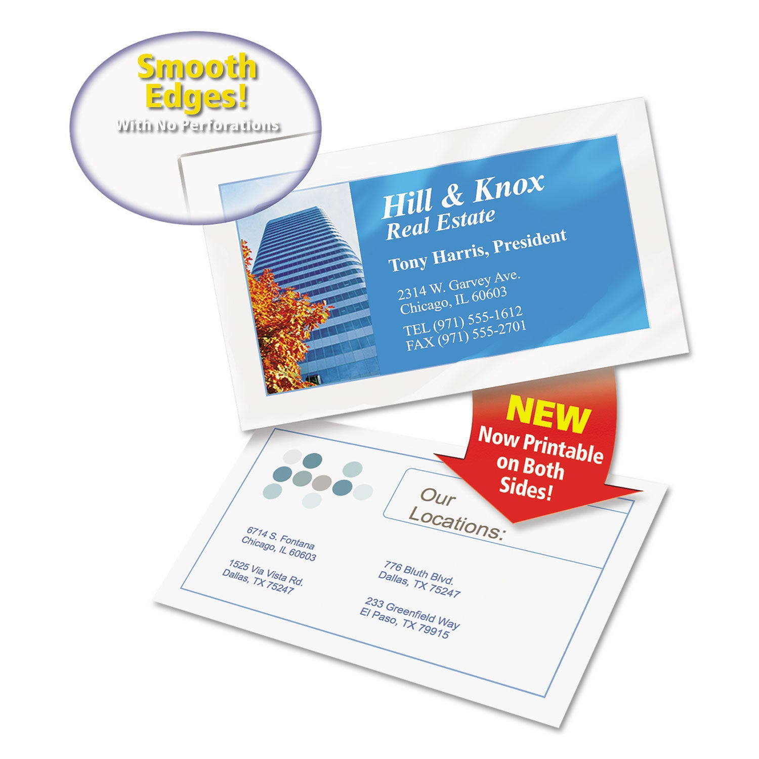 Shop Avery Two Sided Clean Edge Business Cards Inkjet 2 X 3 1 2