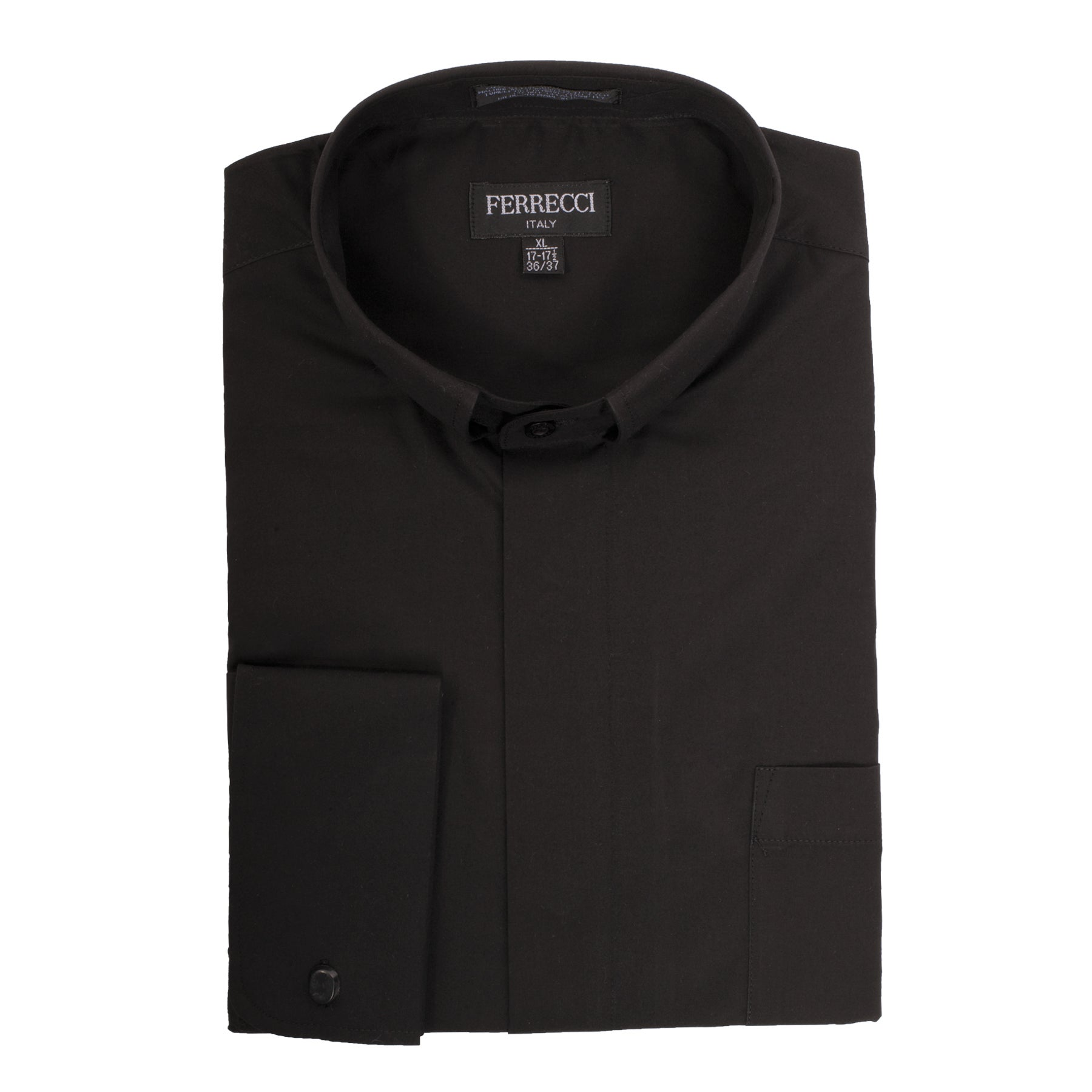7a81fa7b479 Shop Black Clergy Bishop Deacon Priest Mandarin Banded Collar Dress Shirt -  Free Shipping On Orders Over  45 - Overstock - 13997617